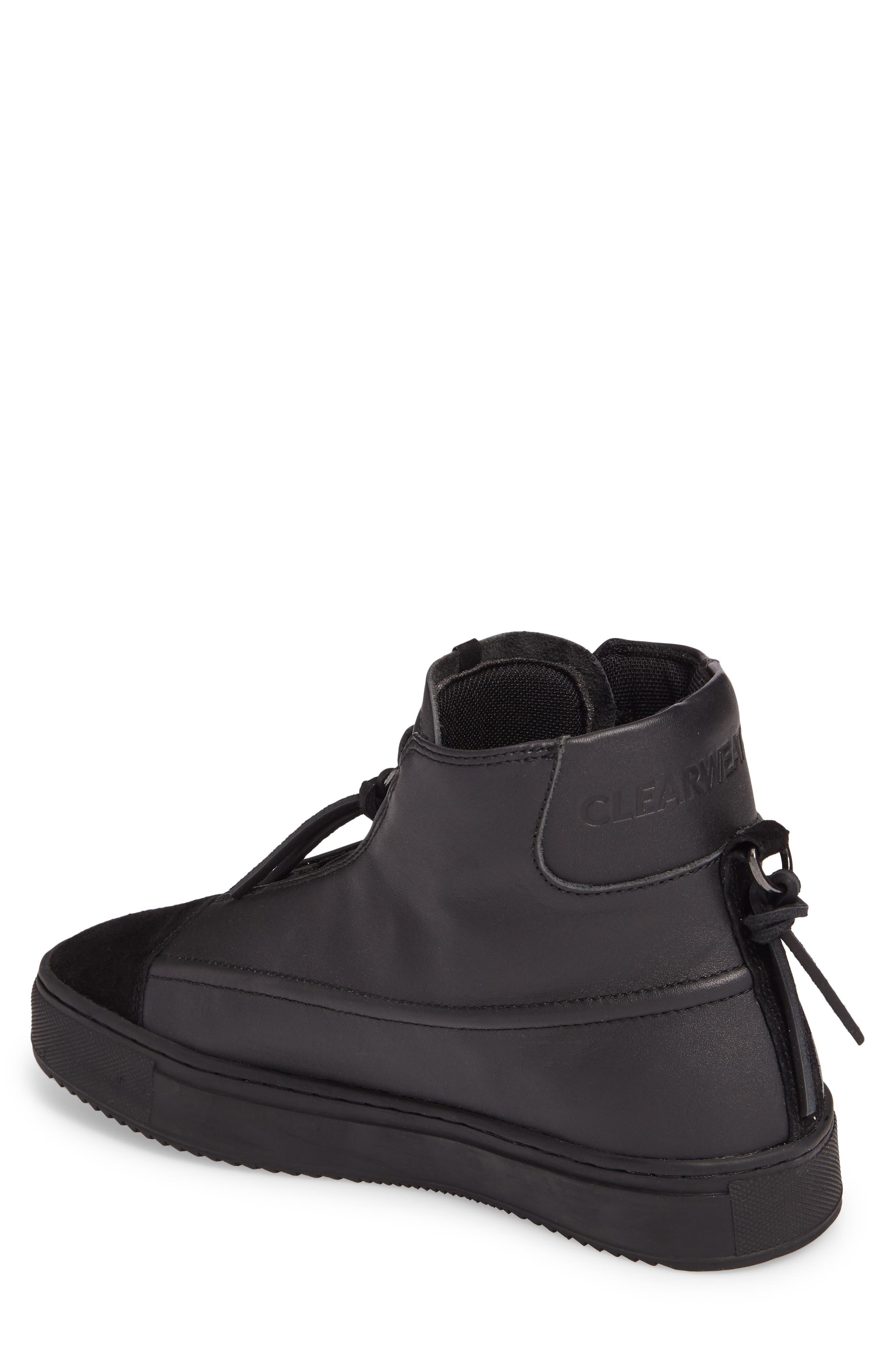 Sidney High Top Sneaker,                             Alternate thumbnail 2, color,                             Black
