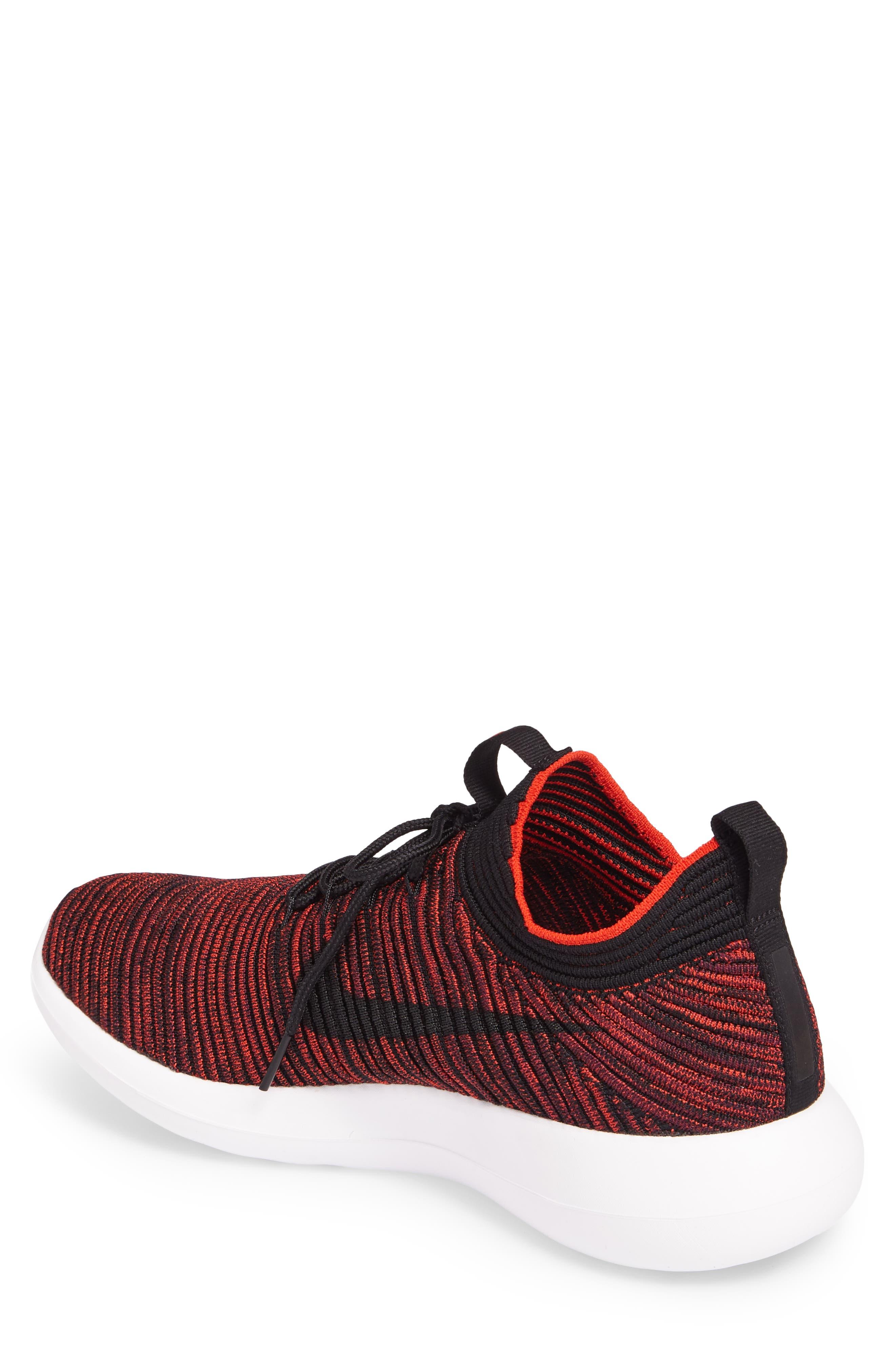 Roshe Two Flyknit V2 Sneaker,                             Alternate thumbnail 3, color,                             Chile Red/ Black