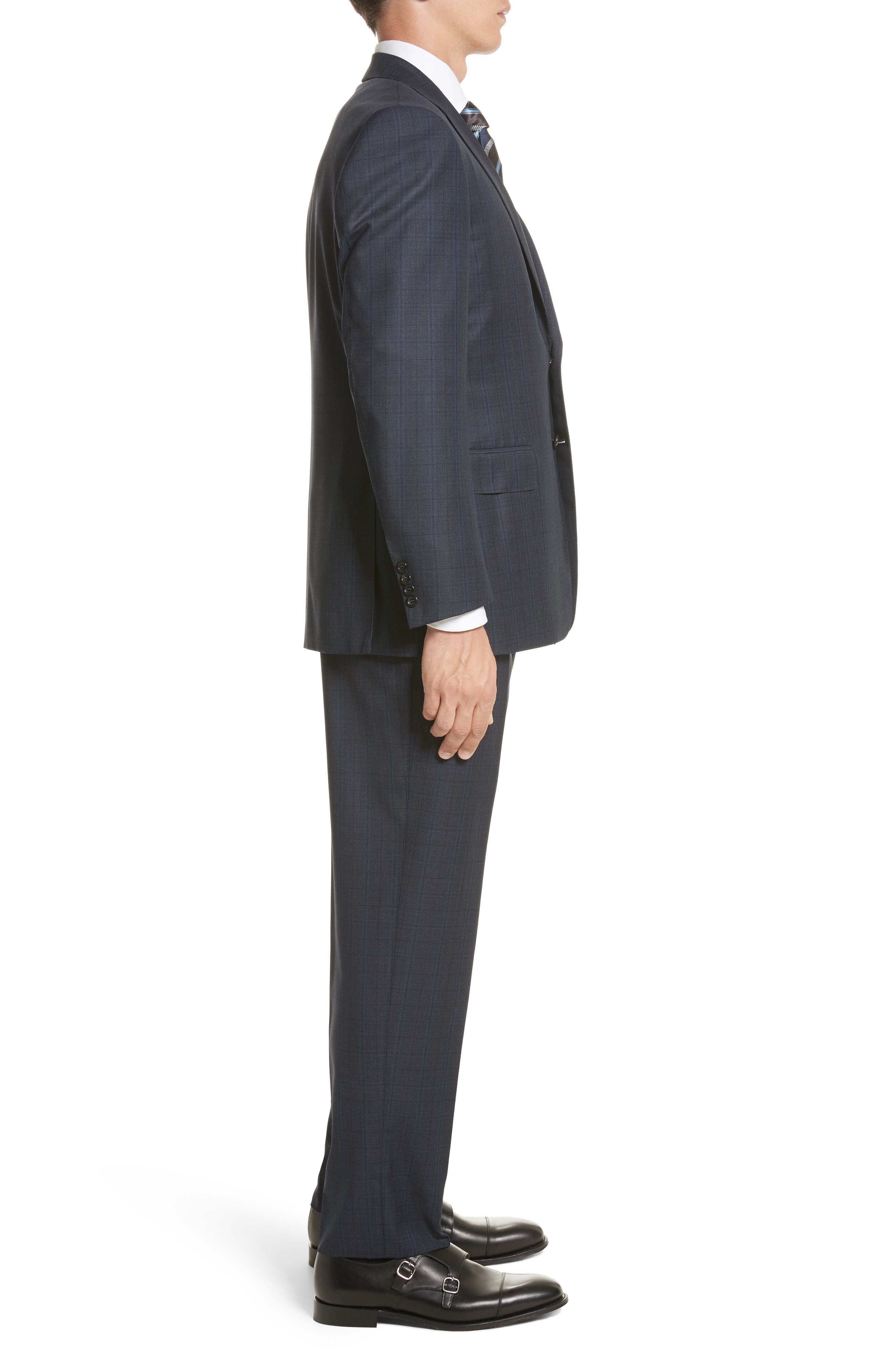 Alternate Image 3  - Canali Classic Fit Check Wool Suit