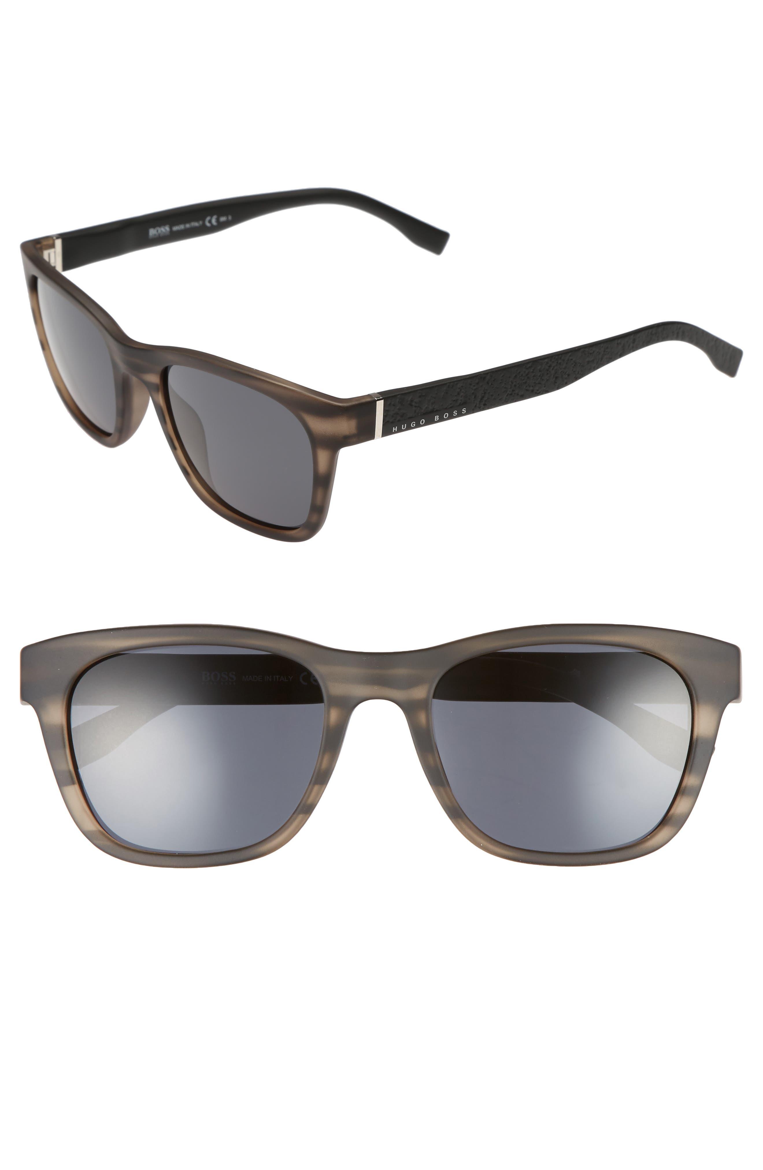 53mm Polarized Sunglasses,                             Main thumbnail 1, color,                             Gray Horn Black/ Gray Blue