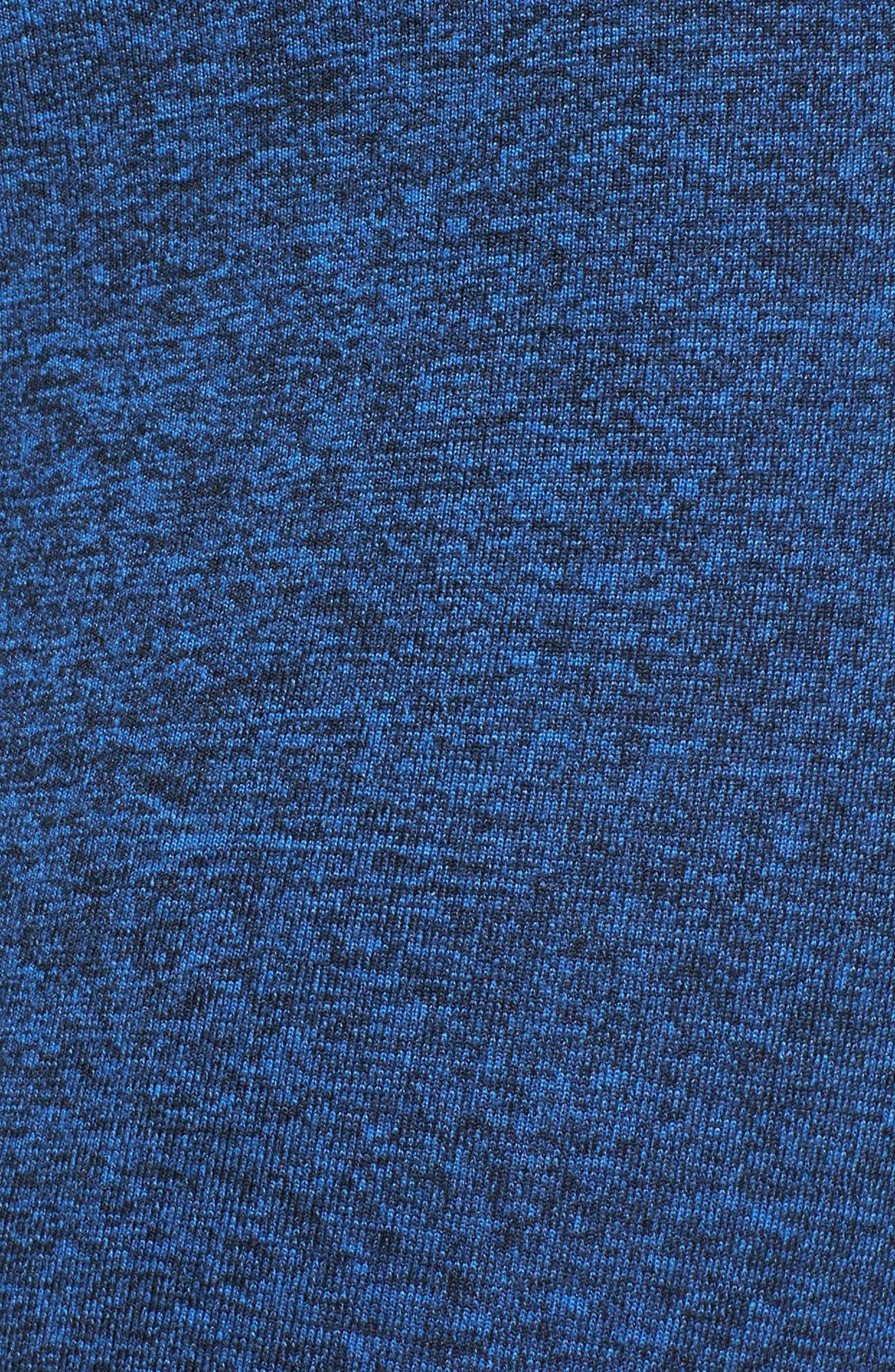Yoga Apparel High Waist Openwork Leggings,                             Alternate thumbnail 6, color,                             Moonlight Blue Majestic