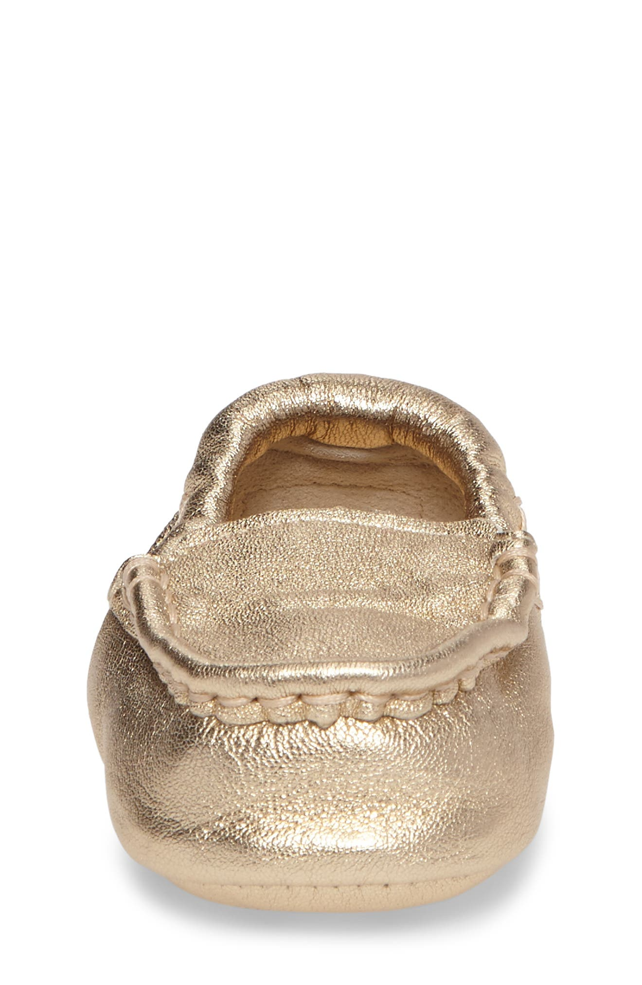 Sivia Metallic Loafer,                             Alternate thumbnail 4, color,                             Gold