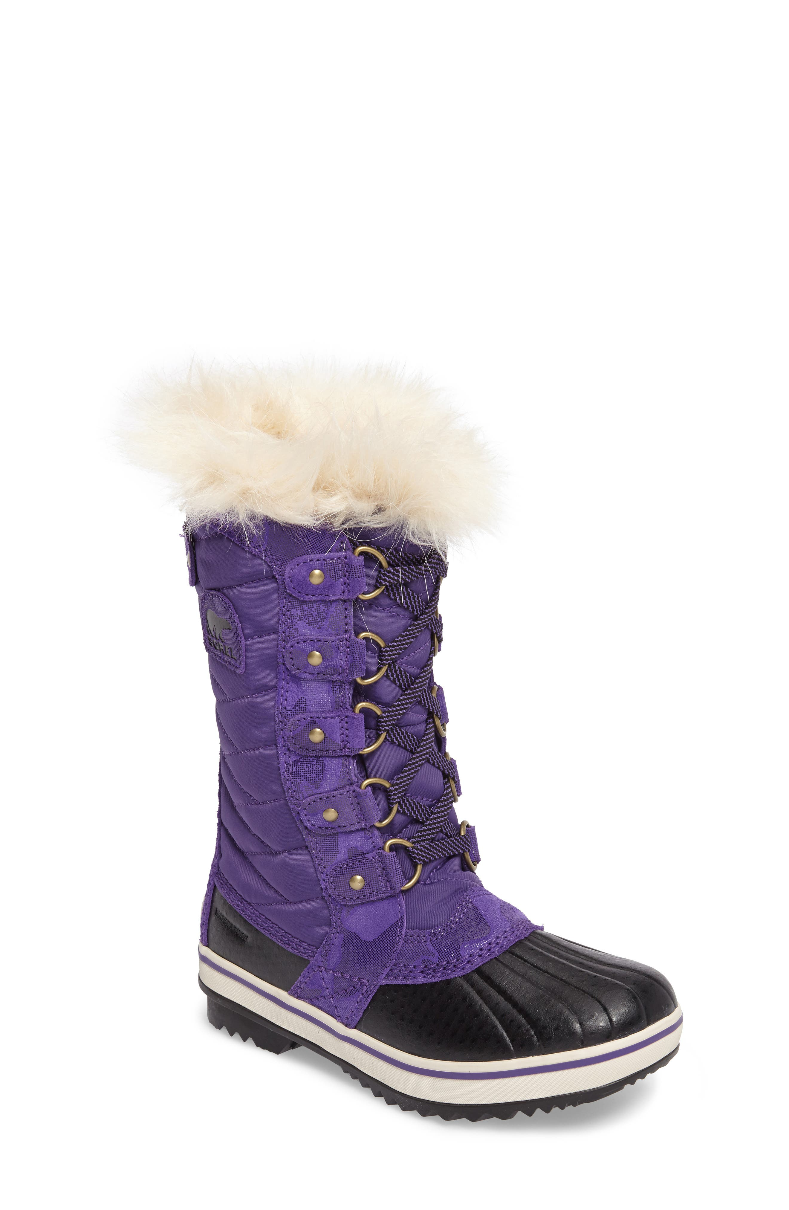 SOREL Tofino II Faux Fur Lined Waterproof Boot (Little Kid & Big Kid)