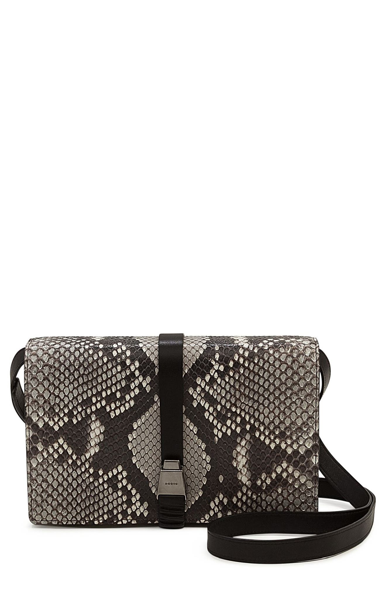 Alternate Image 1 Selected - Akris Alice Genuine Python Crossbody Bag