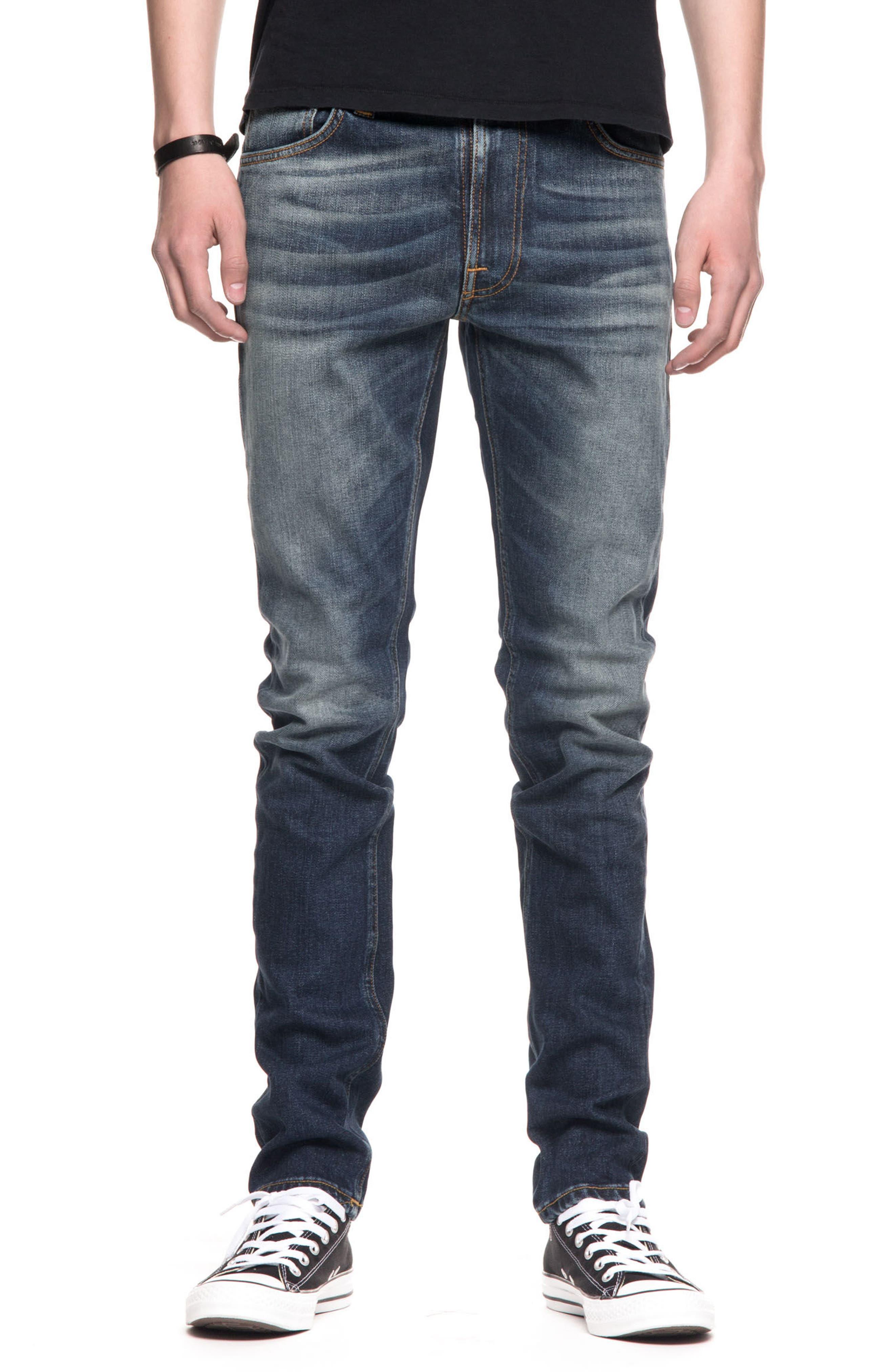 Nudie Jeans Lean Dean Slouchy Slim Fit Jeans (Crispy Bora)