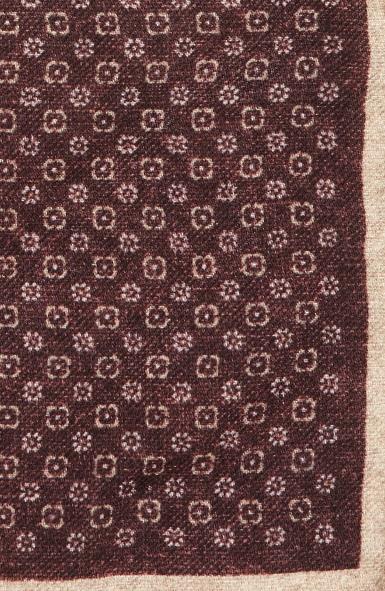 Alternate Image 3  - Eleventy Geo Floral Print Pocket Square