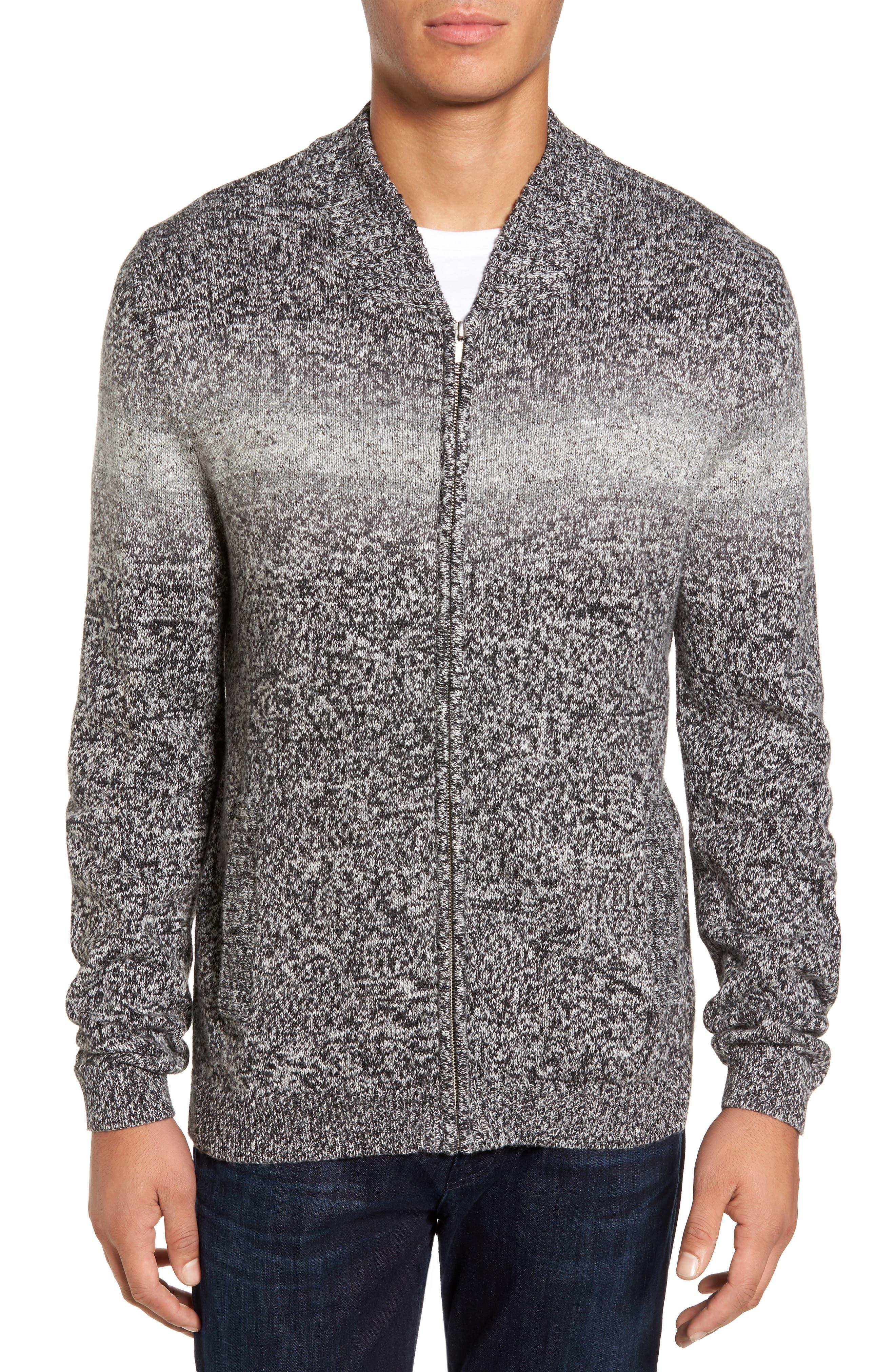 Full Zip Cardigan,                         Main,                         color, Black Combo