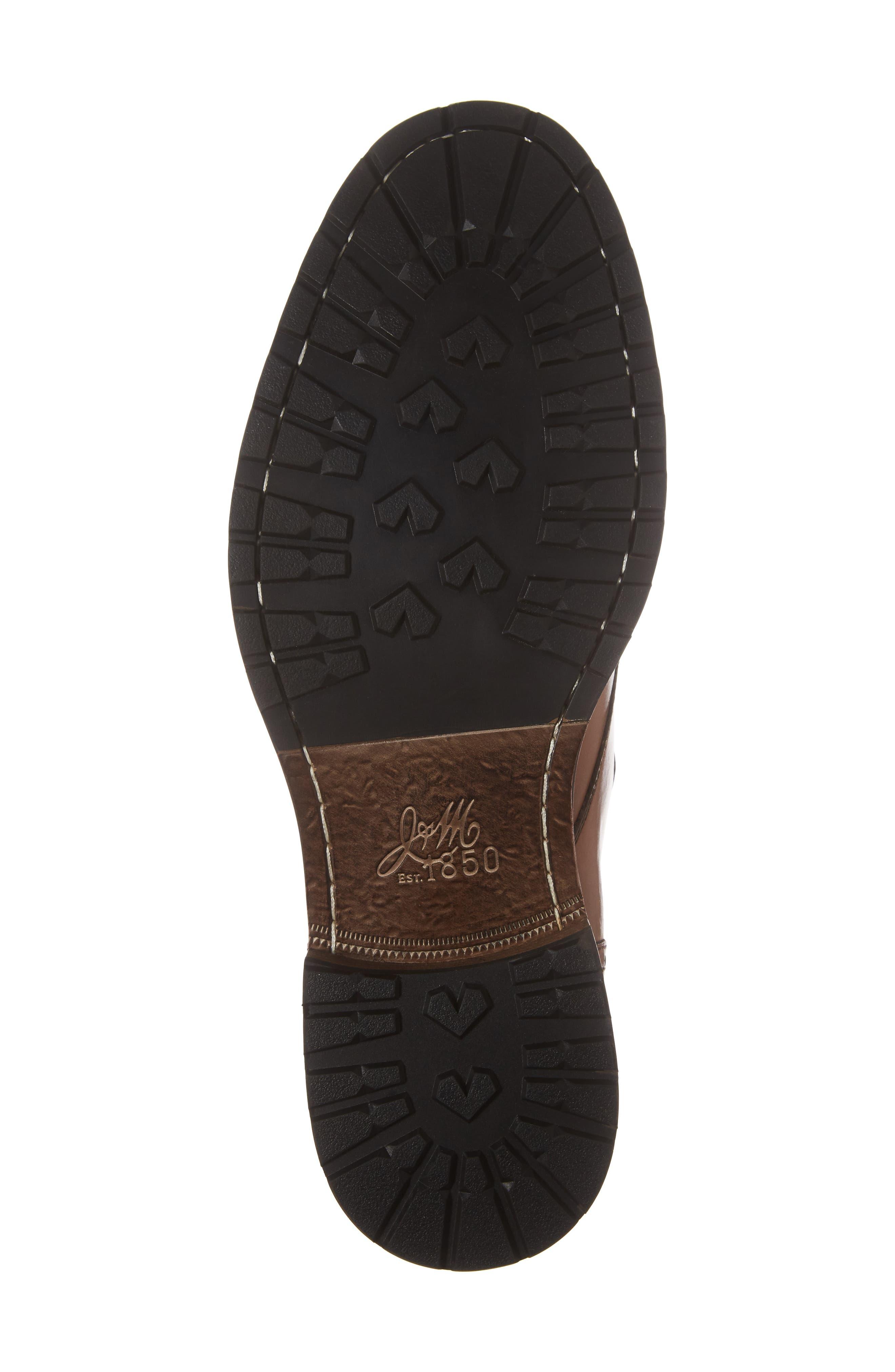 Myles Monk Strap Boot,                             Alternate thumbnail 6, color,                             Cognac Leather