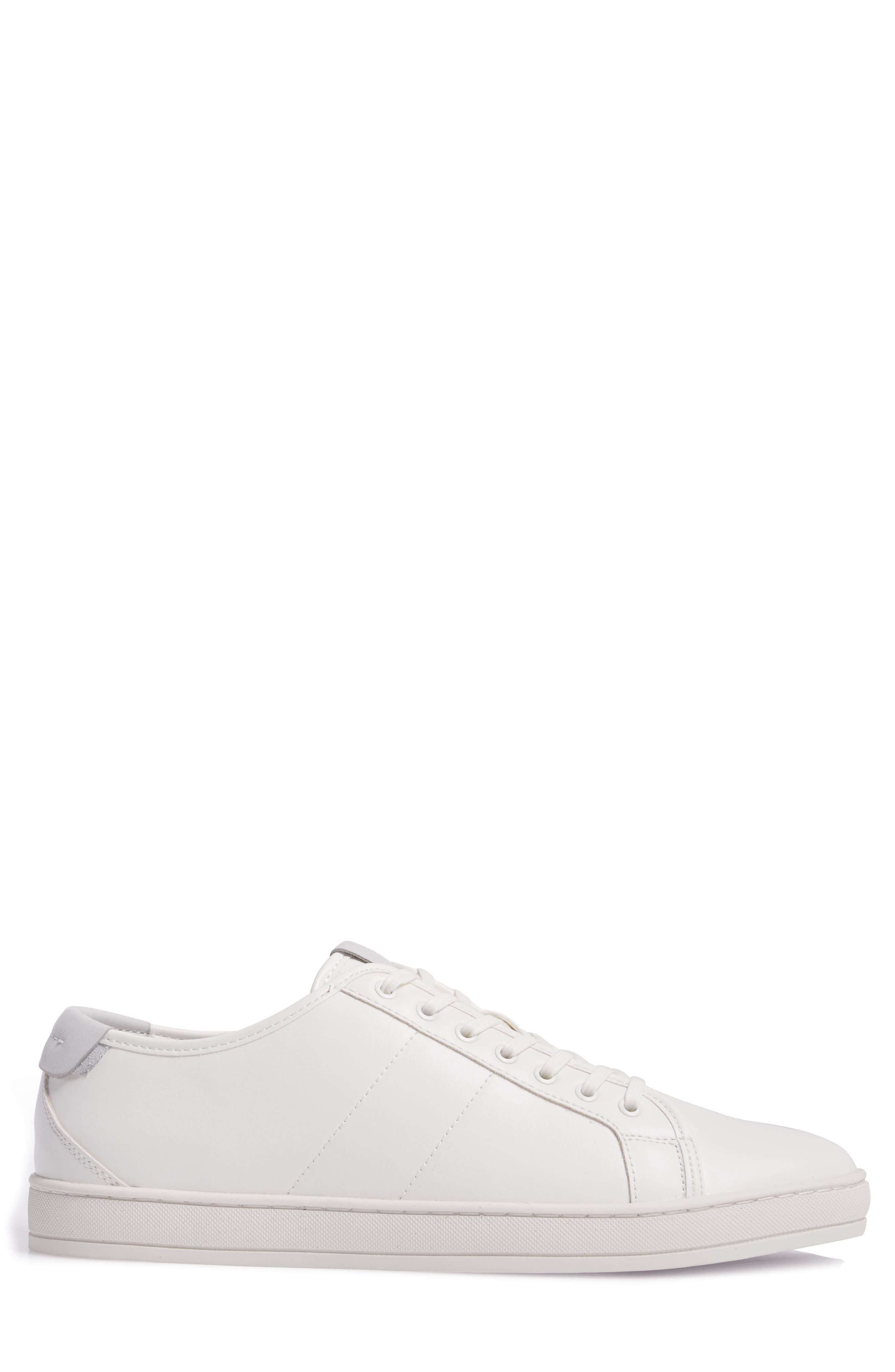 Delello Low-Top Sneaker,                             Alternate thumbnail 3, color,                             White