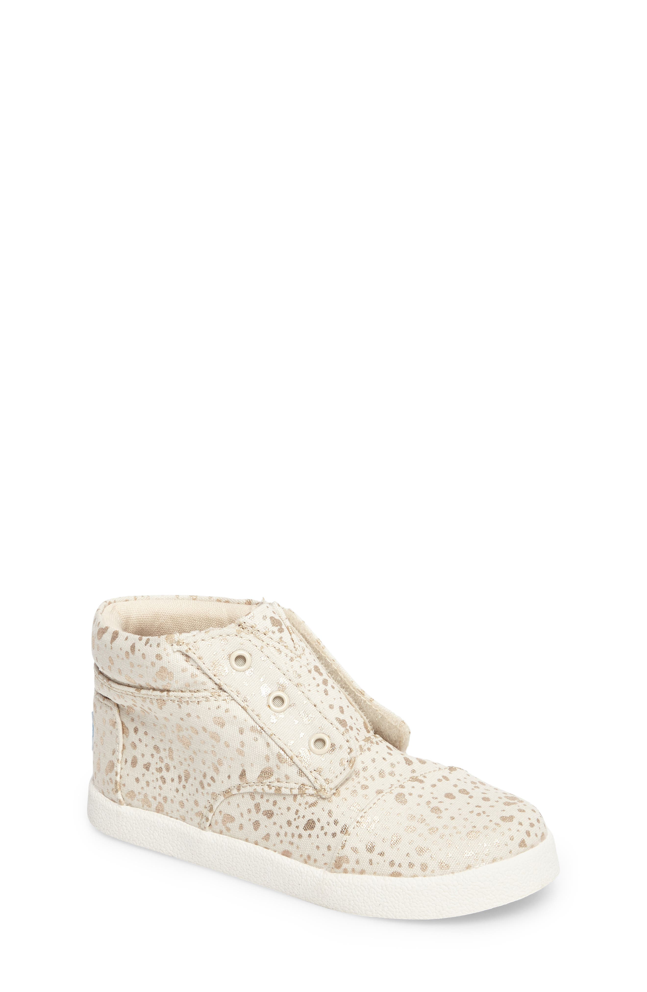 Alternate Image 1 Selected - TOMS Paseo High Top Sneaker (Baby, Walker & Toddler)