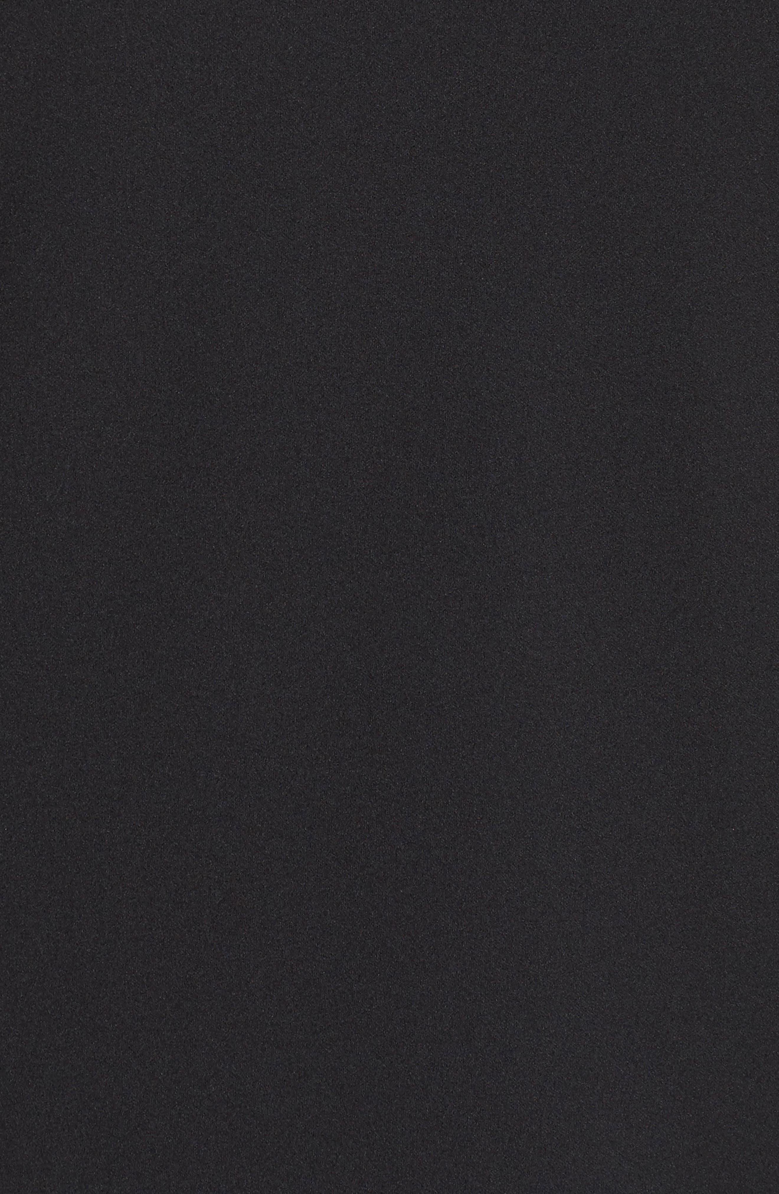 Cold Shoulder Bell Sleeve Dress,                             Alternate thumbnail 5, color,                             Rich Black