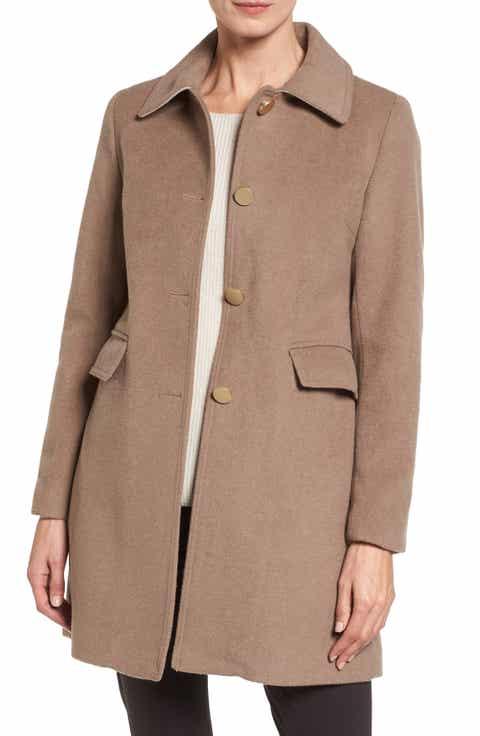 Women's Brown Wool & Wool-Blend Coats | Nordstrom