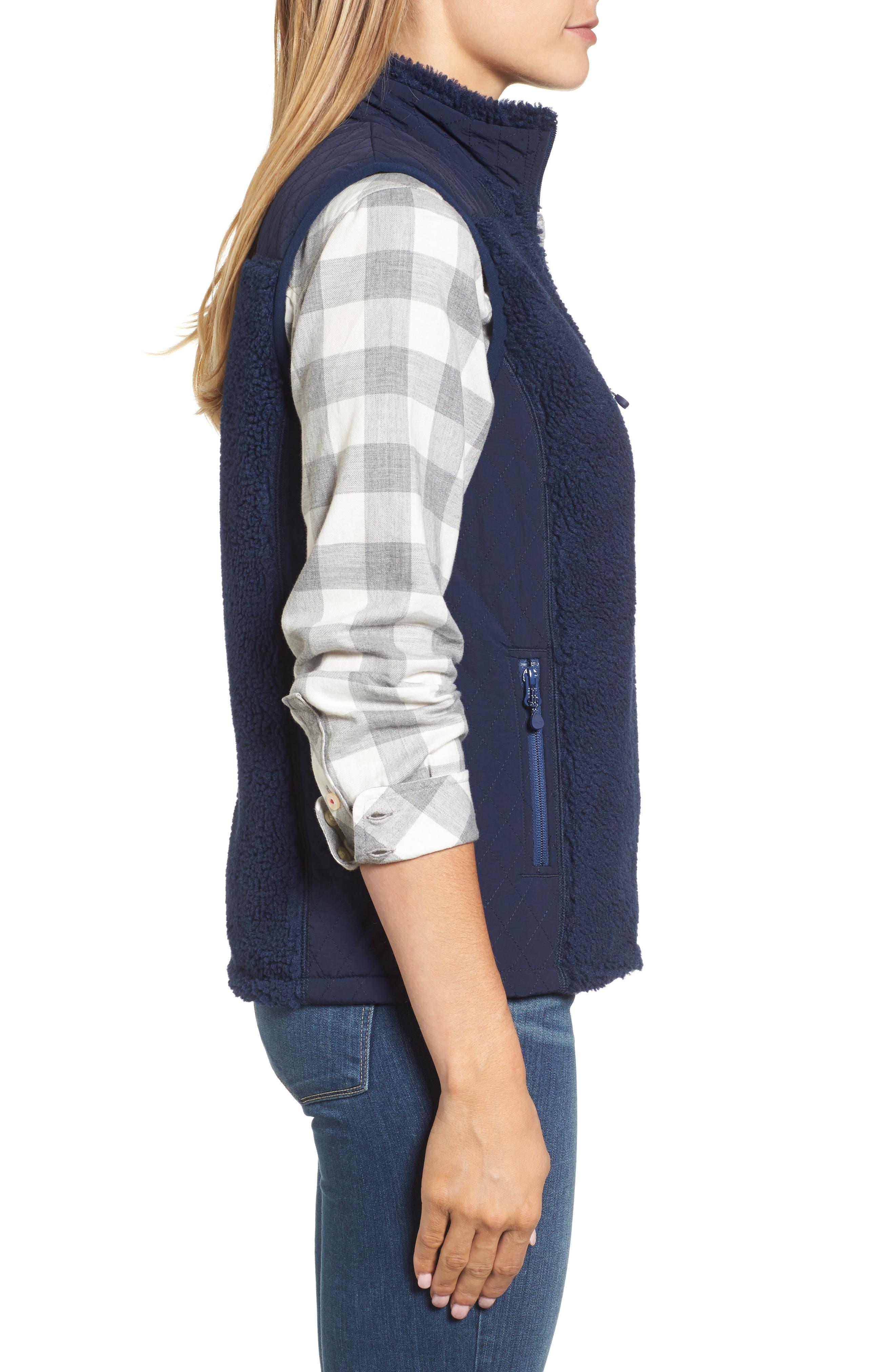 Reversible Quilted Plaid Vest,                             Alternate thumbnail 3, color,                             Deep Bay