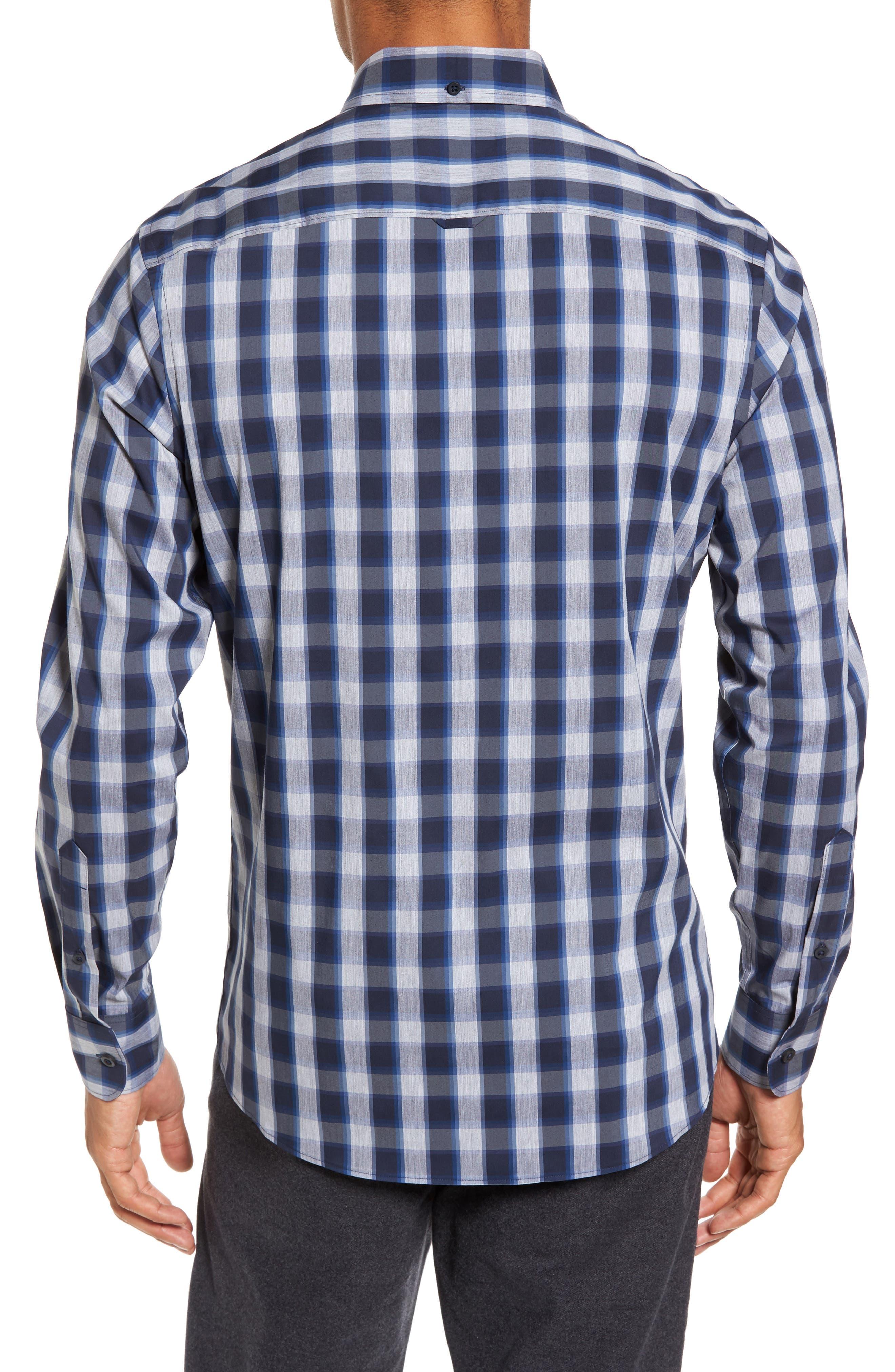 Alternate Image 2  - Nordstrom Men's Shop Spade Tech-Smart Trim Fit Check Sport Shirt