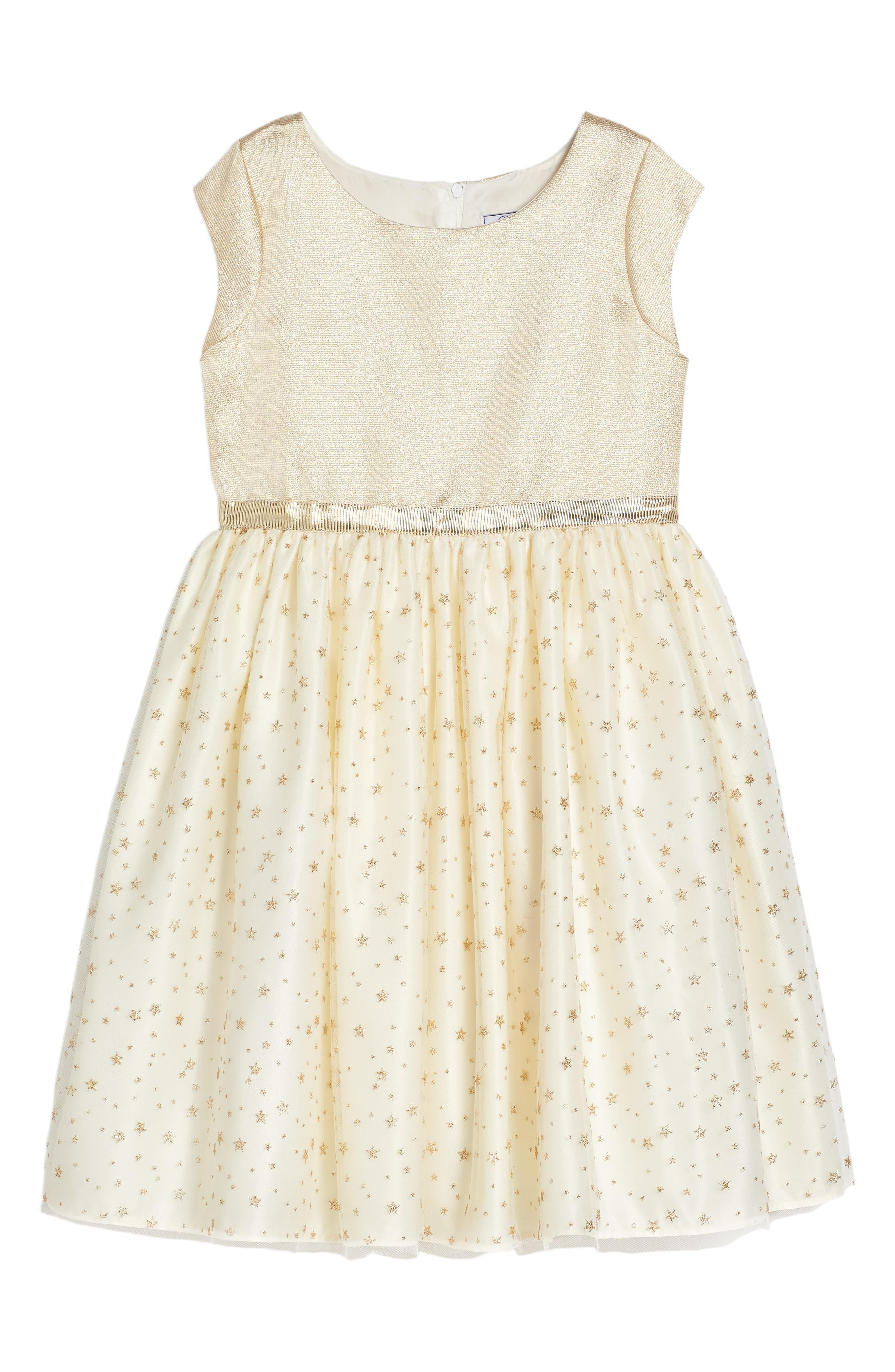 Kelly Dress,                         Main,                         color, Gold