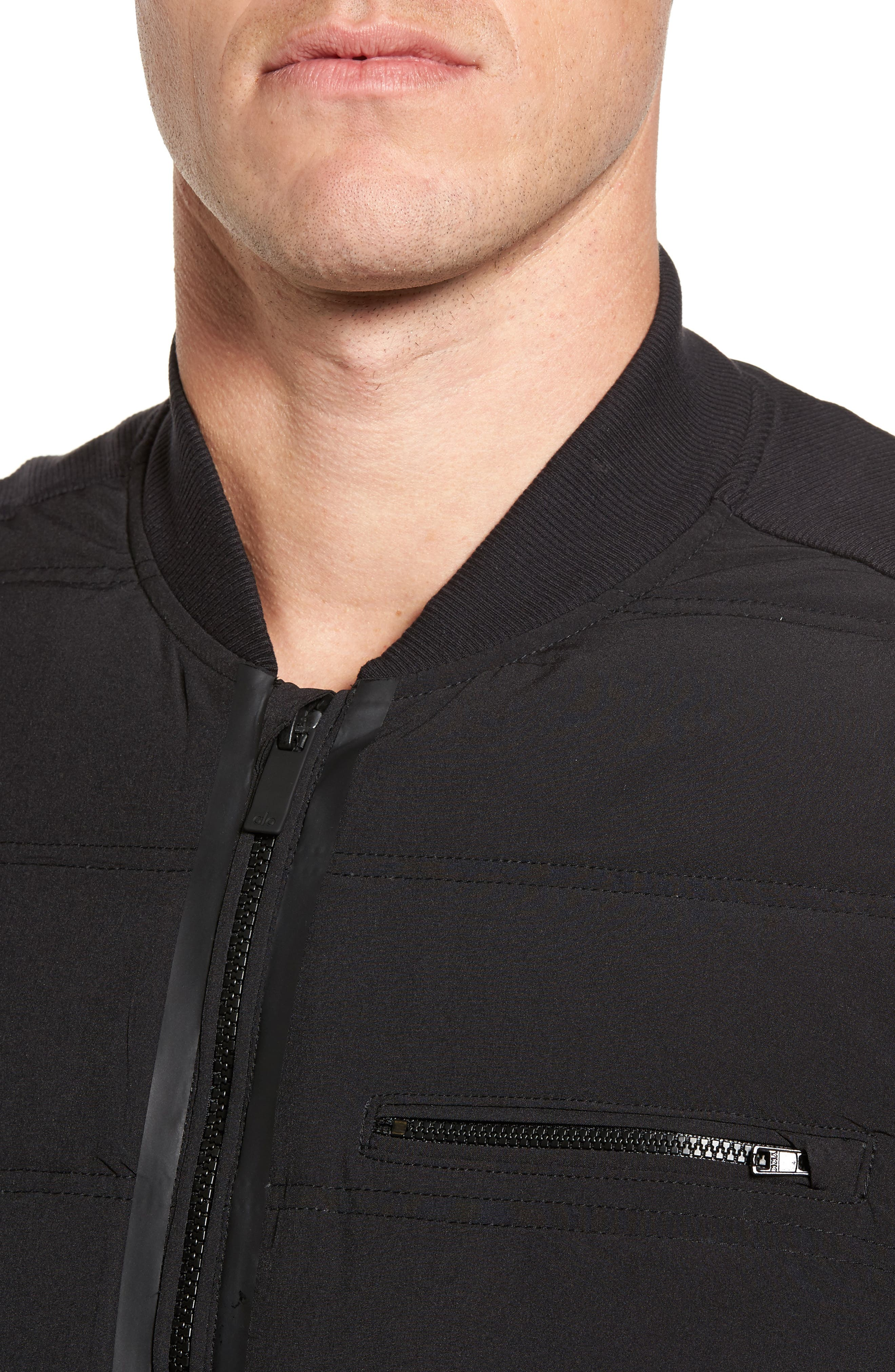 Mantra Relaxed Down Vest,                             Alternate thumbnail 4, color,                             Black