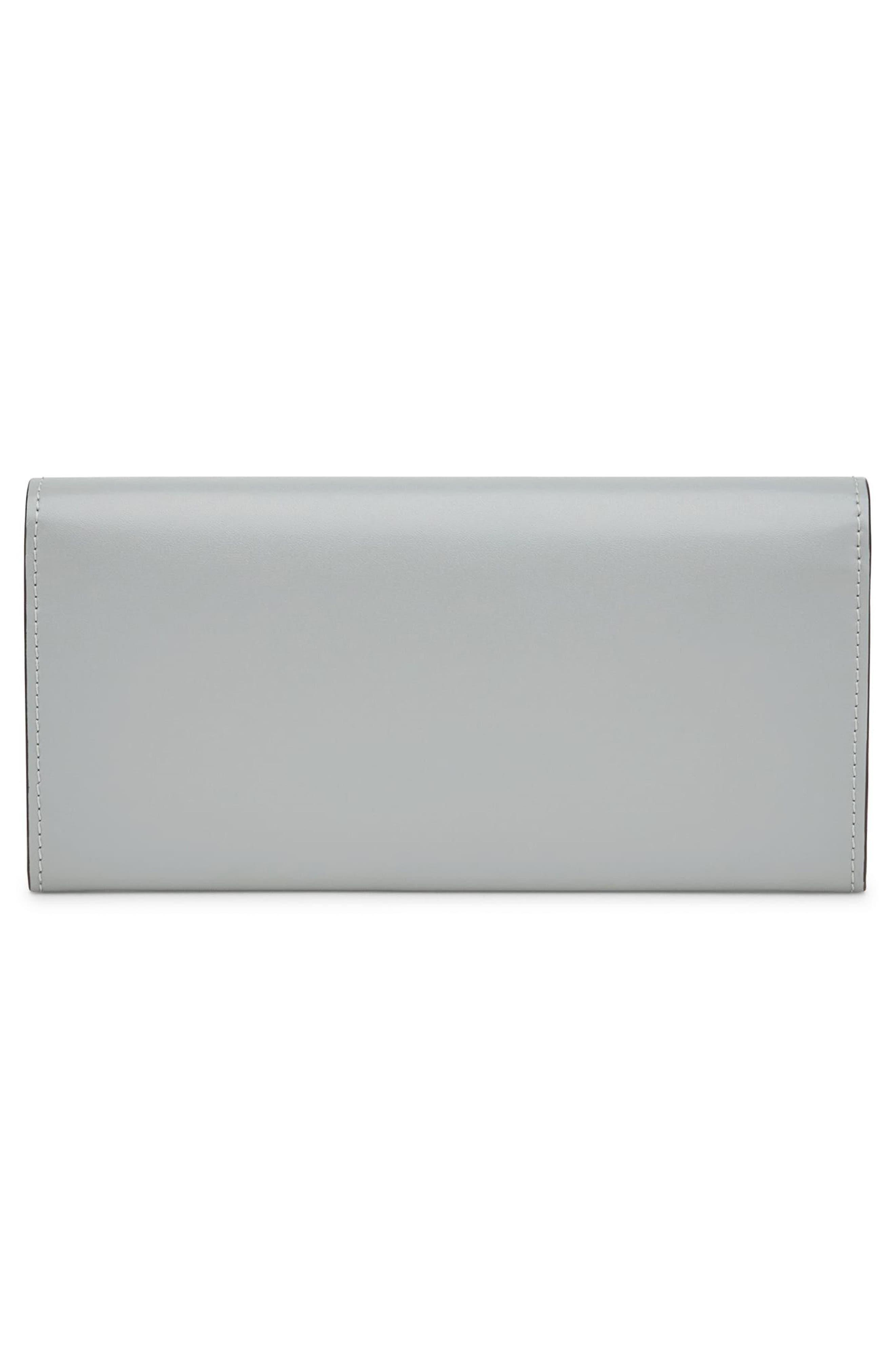 Alternate Image 4  - Fendi Rainbow Stud Calfskin Leather Wallet on a Chain