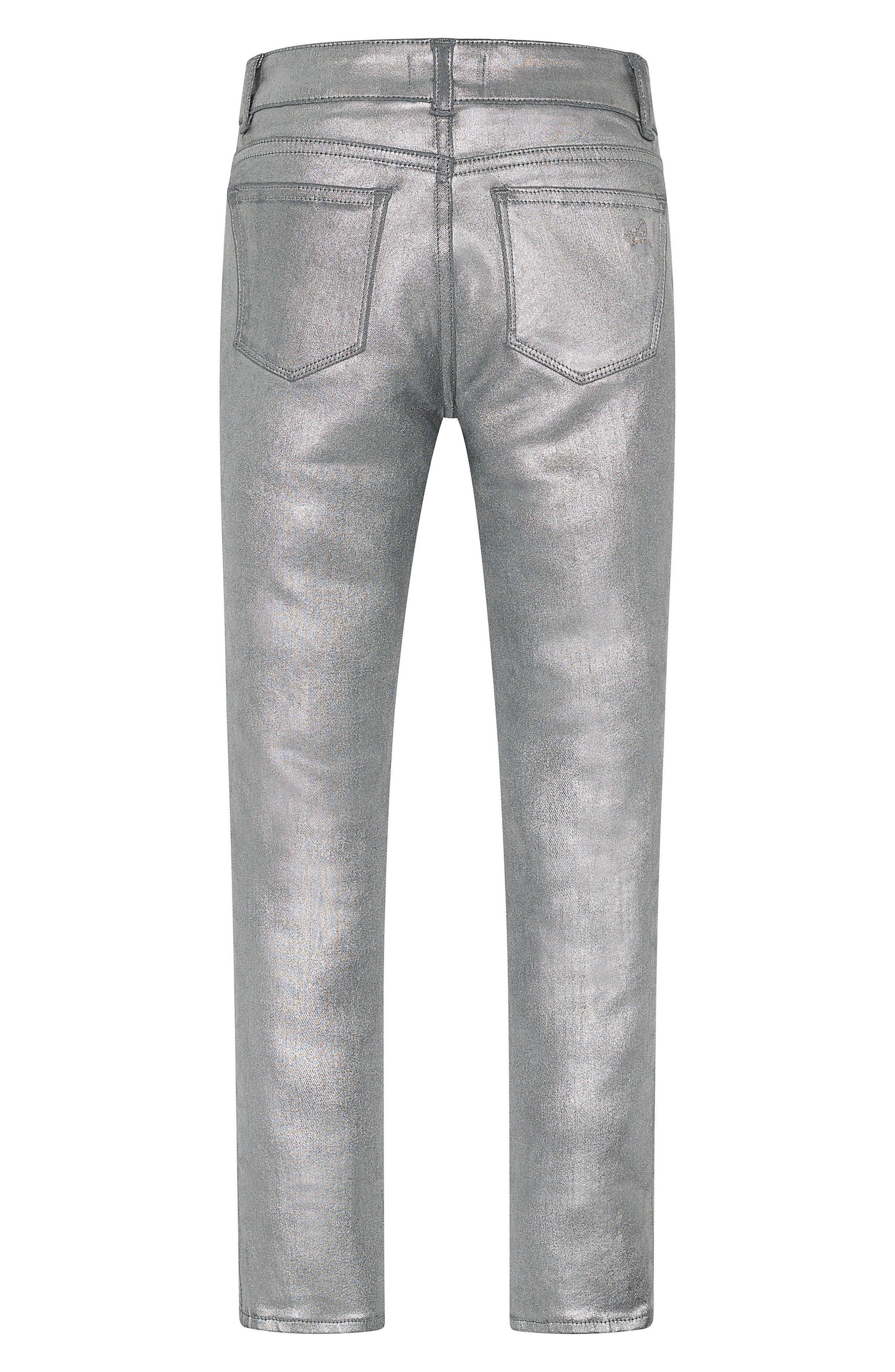 Chloe Coated Skinny Jeans,                             Alternate thumbnail 2, color,                             Silverado