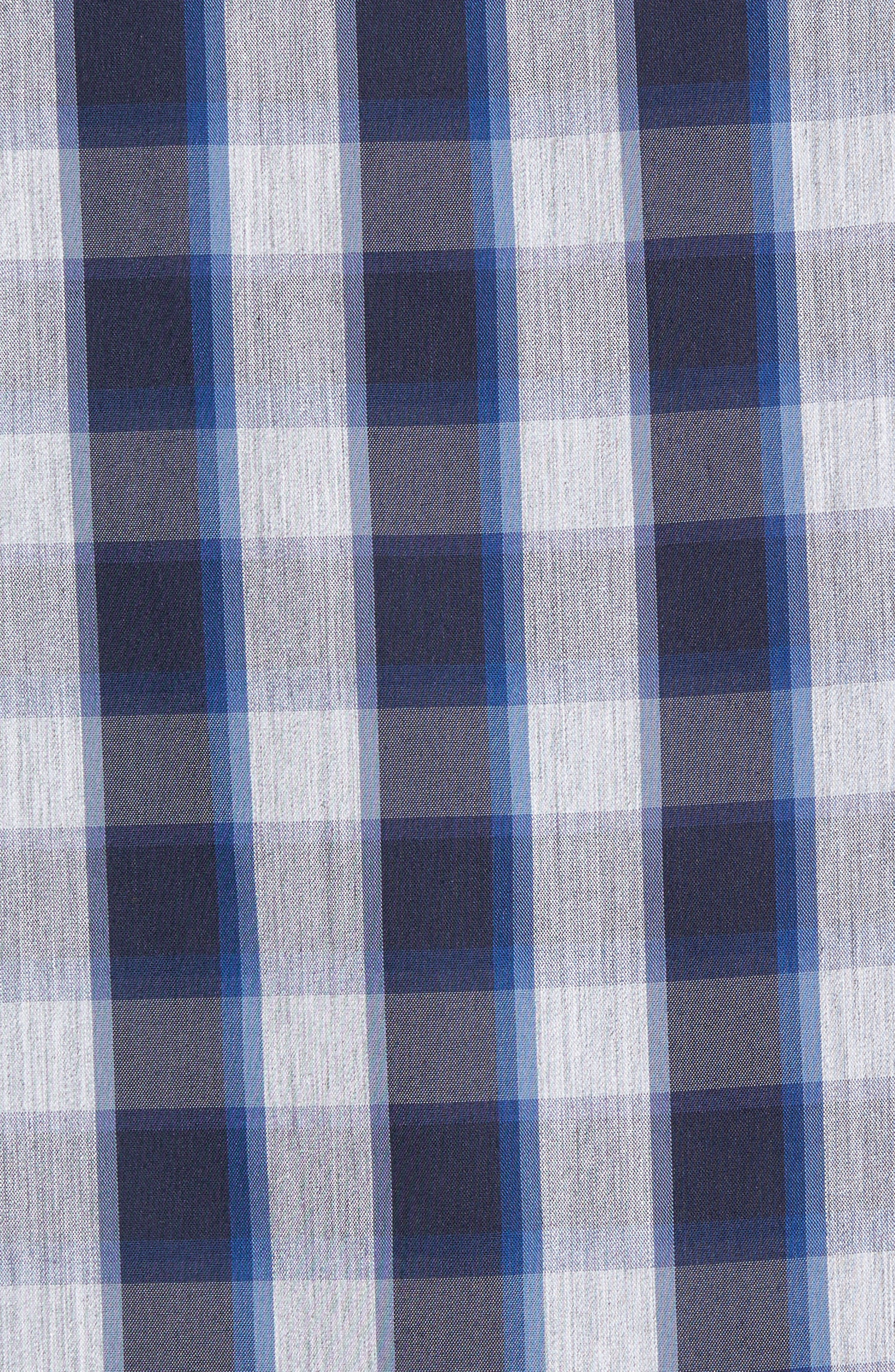 Alternate Image 5  - Nordstrom Men's Shop Spade Tech-Smart Trim Fit Check Sport Shirt