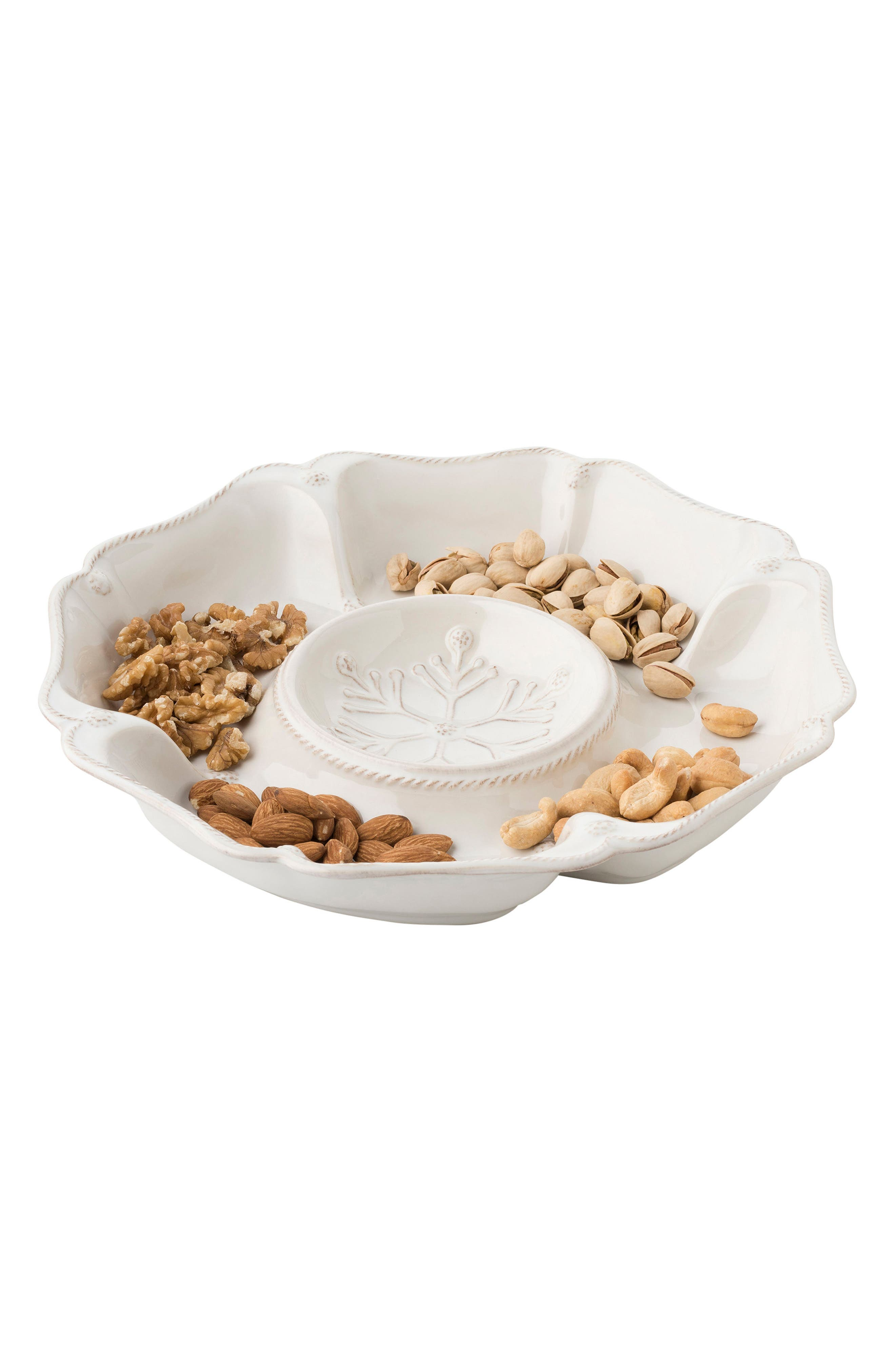 Berry & Thread Ceramic Hors D'Oeuvres Serving Tray,                             Alternate thumbnail 2, color,                             Whitewash