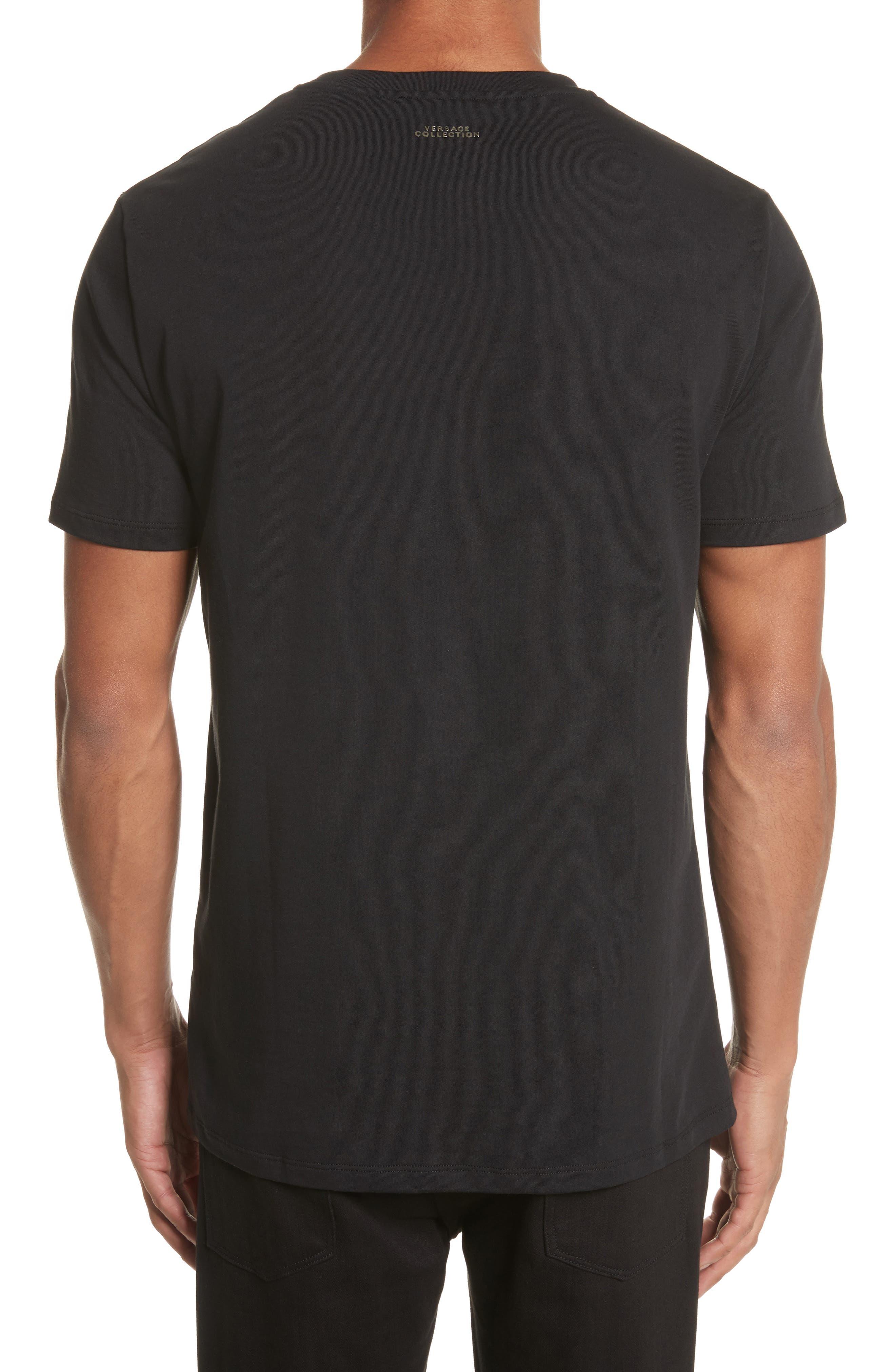 Alternate Image 2  - Versace Collection Glitter Stamp Medusa Graphic T-Shirt