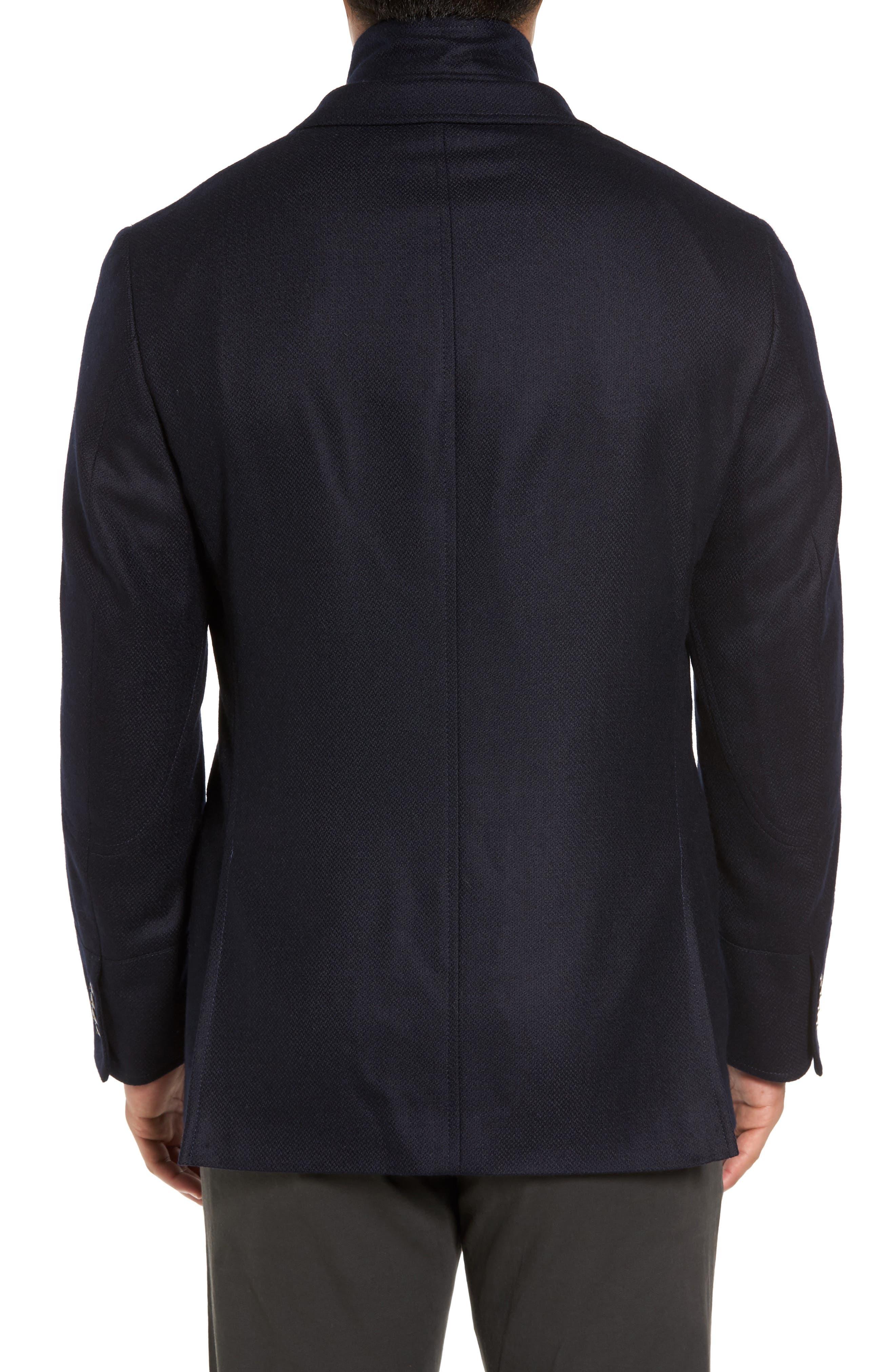 Ritchie Aim Hybrid Classic Fit Wool & Cashmere Sport Coat,                             Alternate thumbnail 2, color,                             Navy