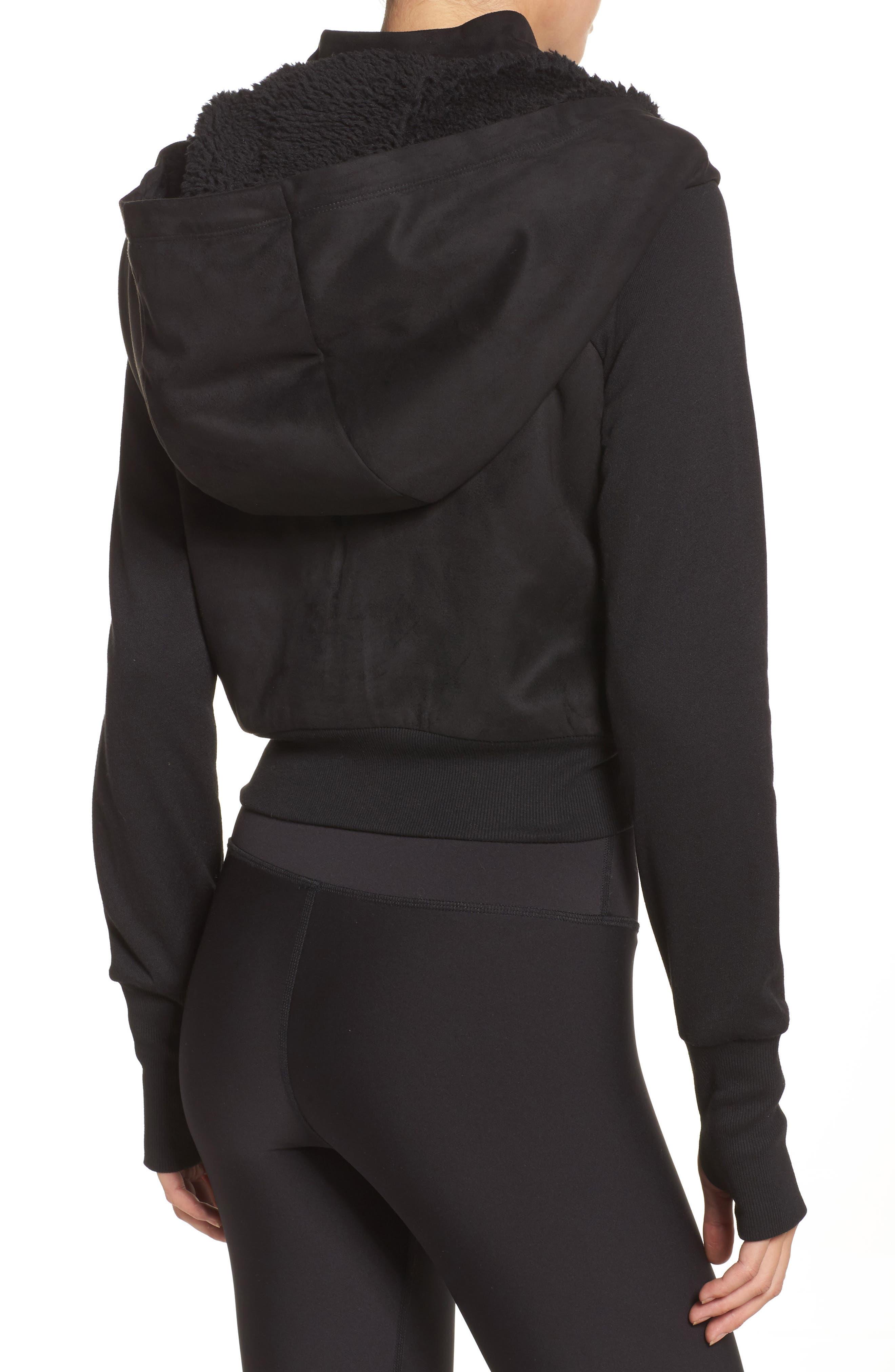 LA Winter Faux Fur Lined Jacket,                             Alternate thumbnail 2, color,                             Black