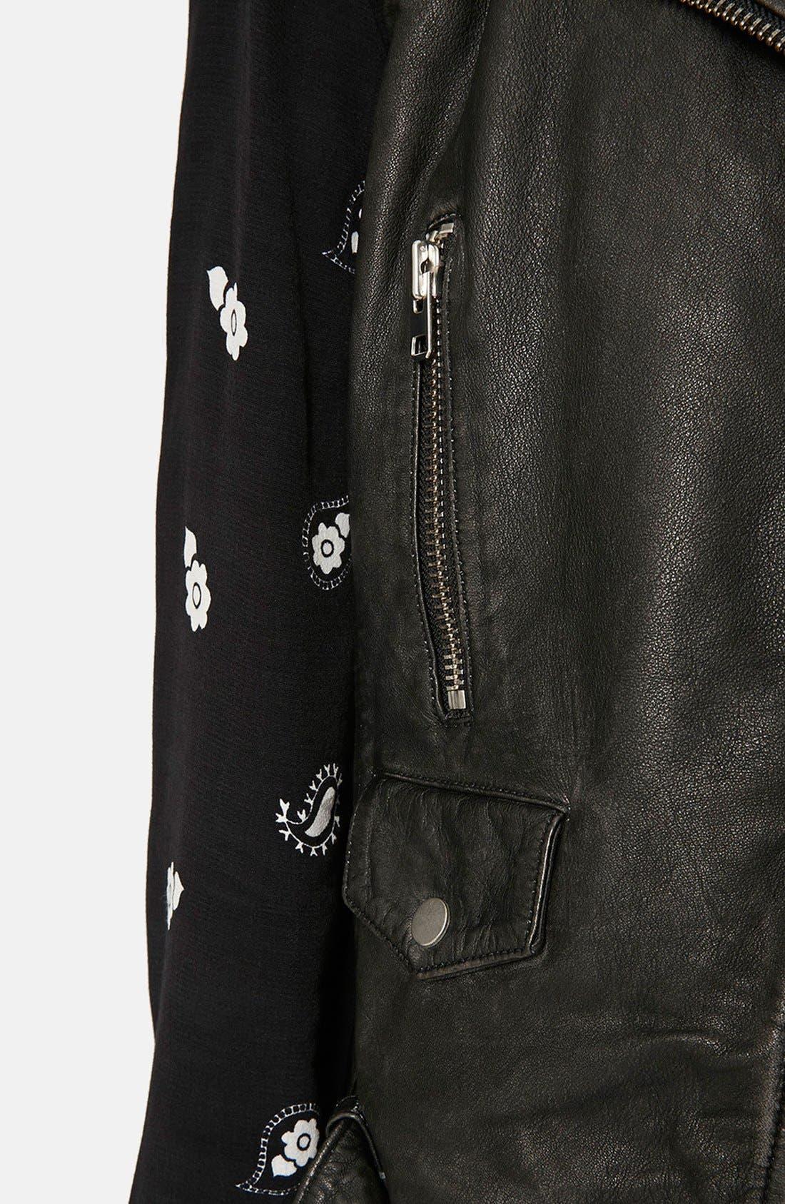 Alternate Image 4  - Topshop 'Sylvia' Leather Biker Vest