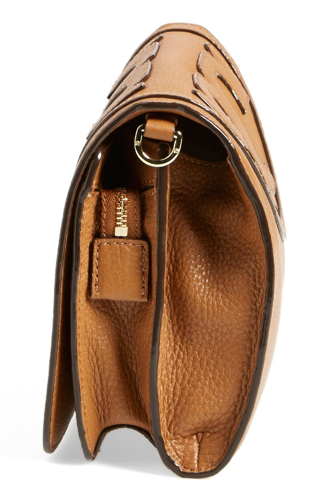 Alternate Image 5  - Tory Burch 'All-T' Leather Crossbody Bag