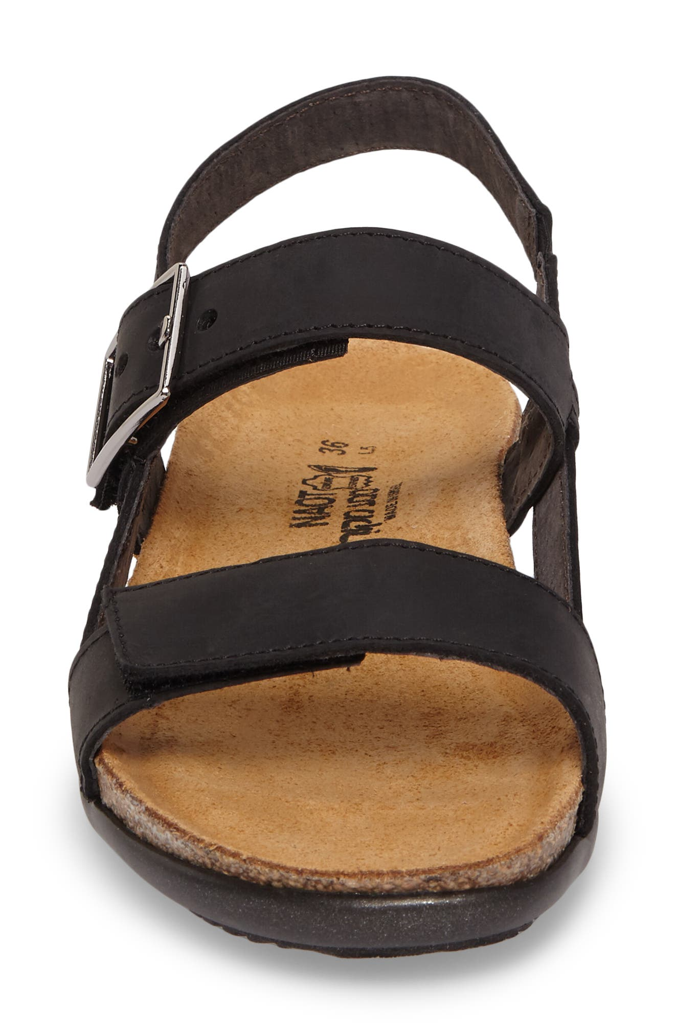 Norah Sandal,                             Alternate thumbnail 4, color,                             Oily Coal Nubuck