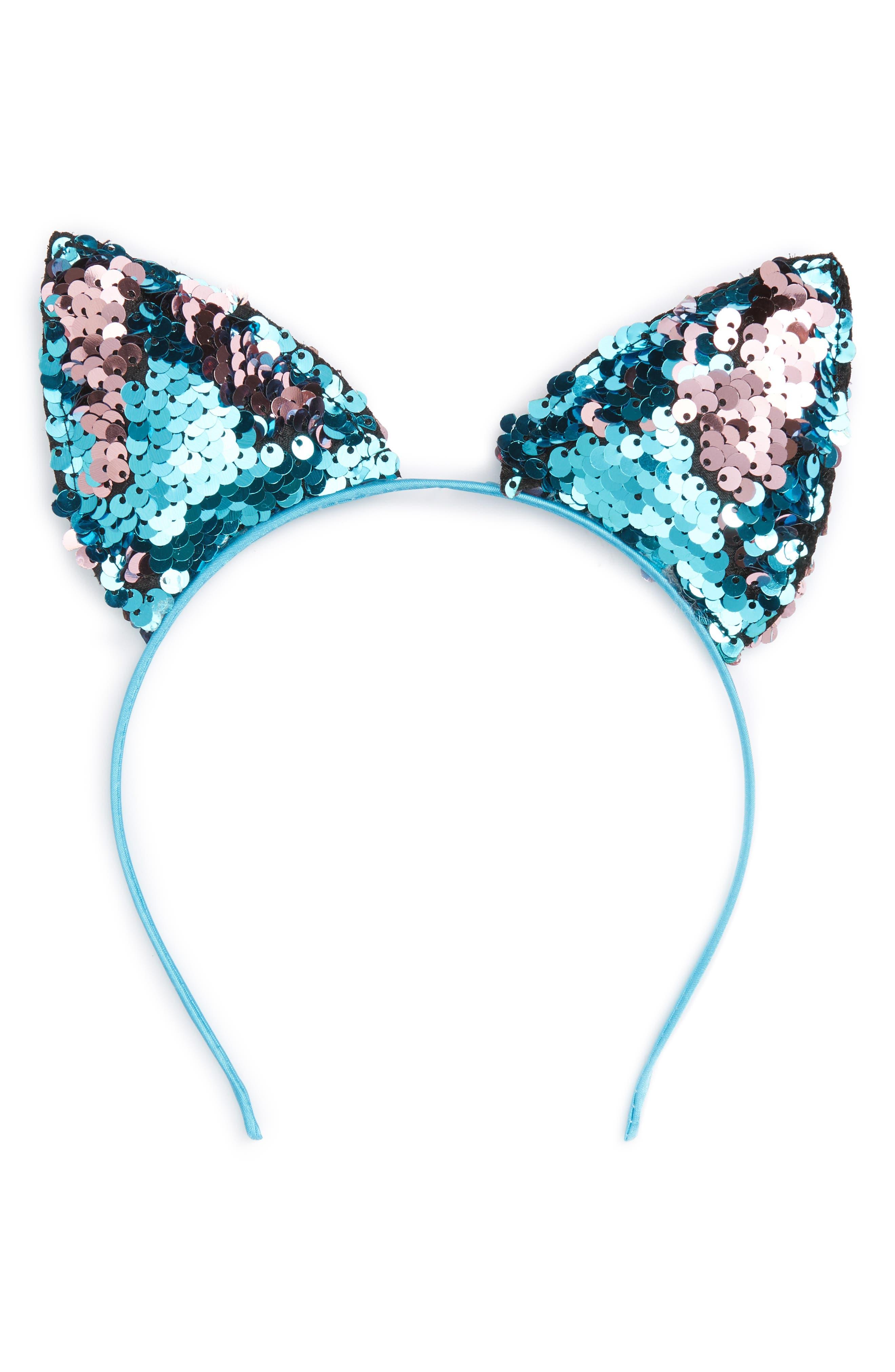 Capelli of New York Sequin Cat Ears Headband (Girls)