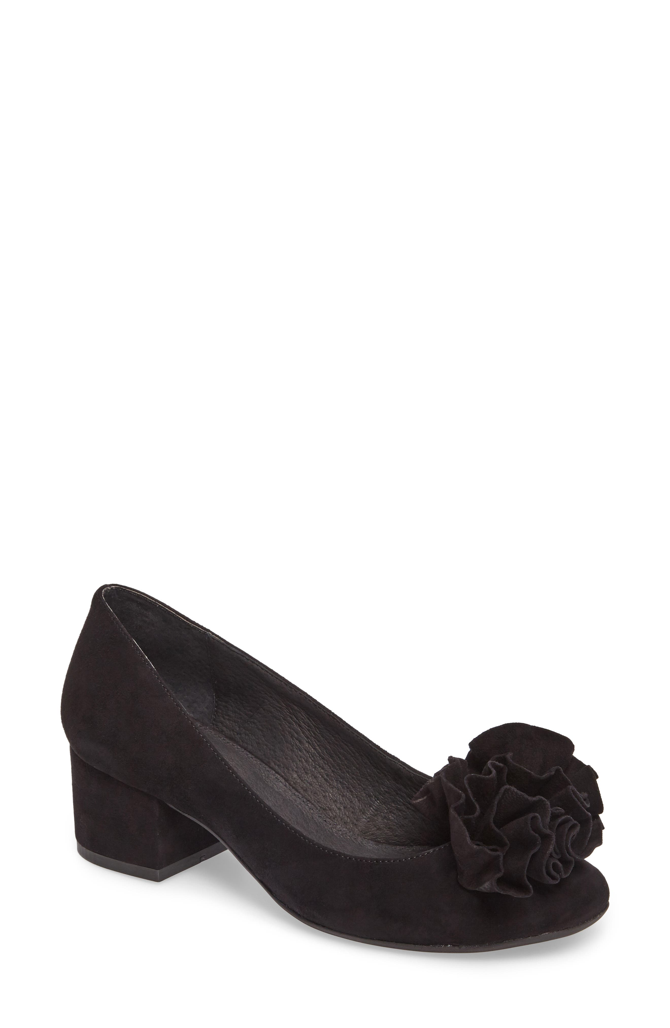 Lilly Pump,                             Main thumbnail 1, color,                             Black Suede