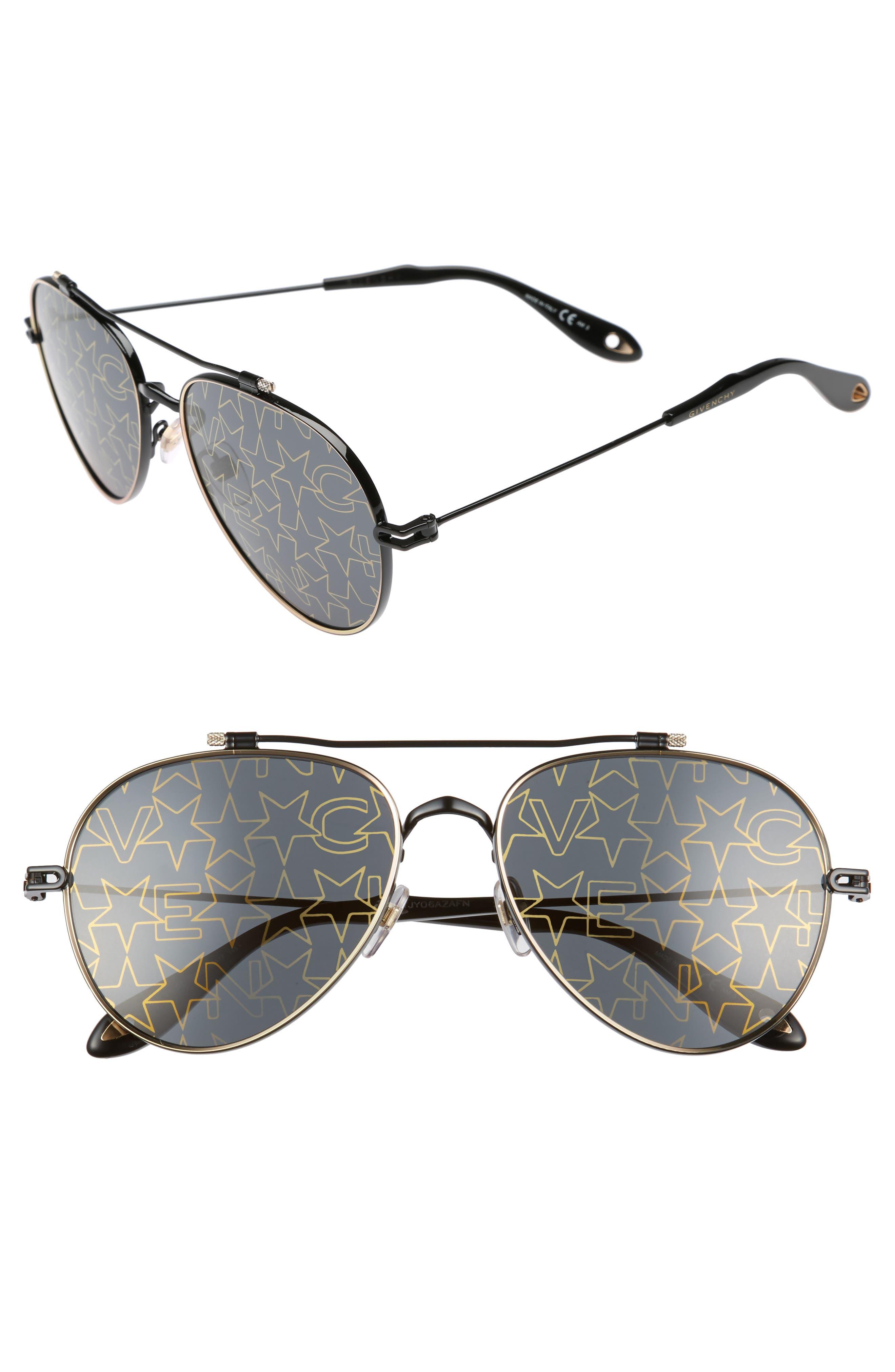 Main Image - Givenchy 58mm Aviator Sunglasses