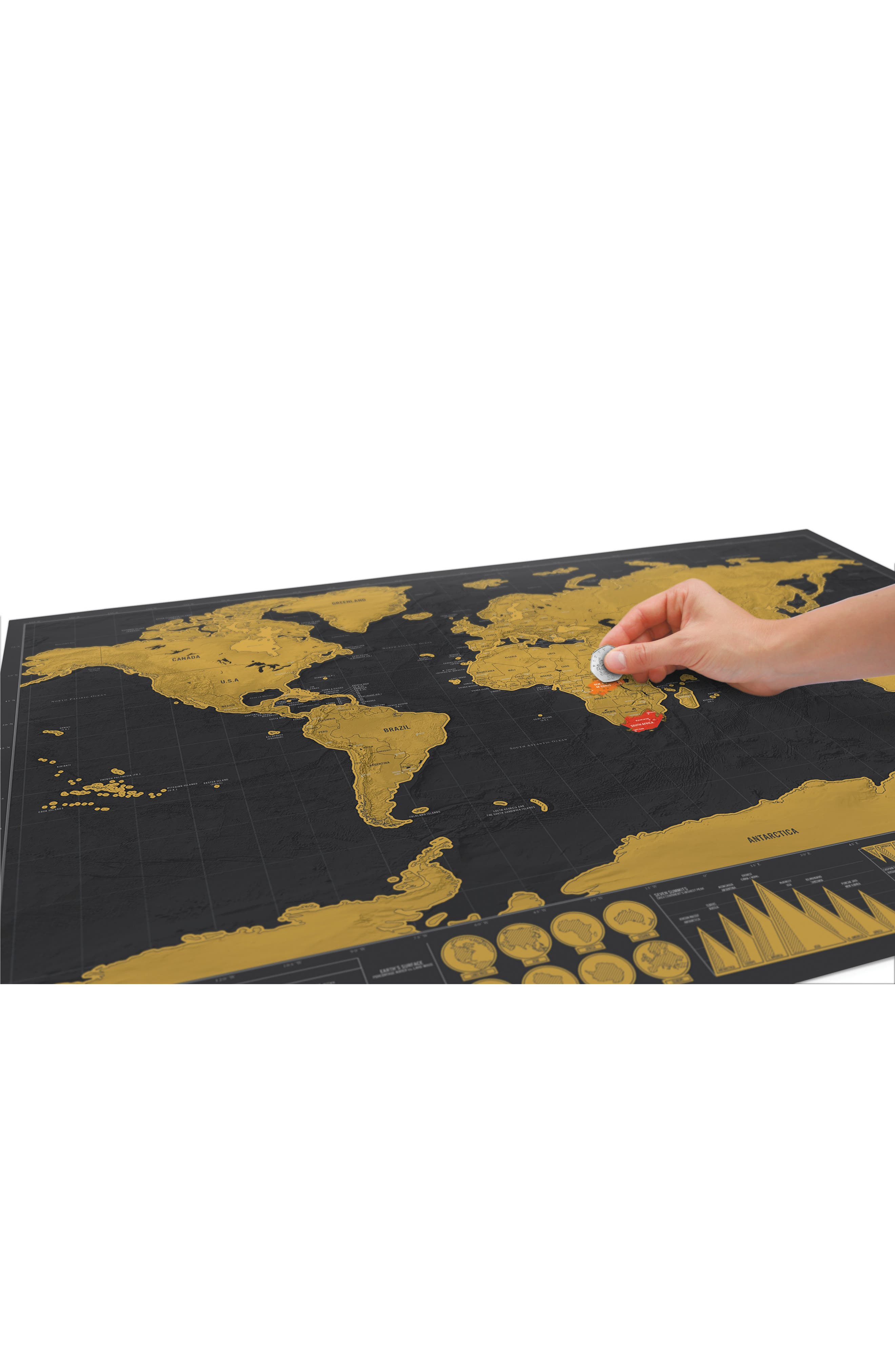 Deluxe Edition Scratch Map<sup>®</sup>,                             Alternate thumbnail 2, color,                             Metallic Gold
