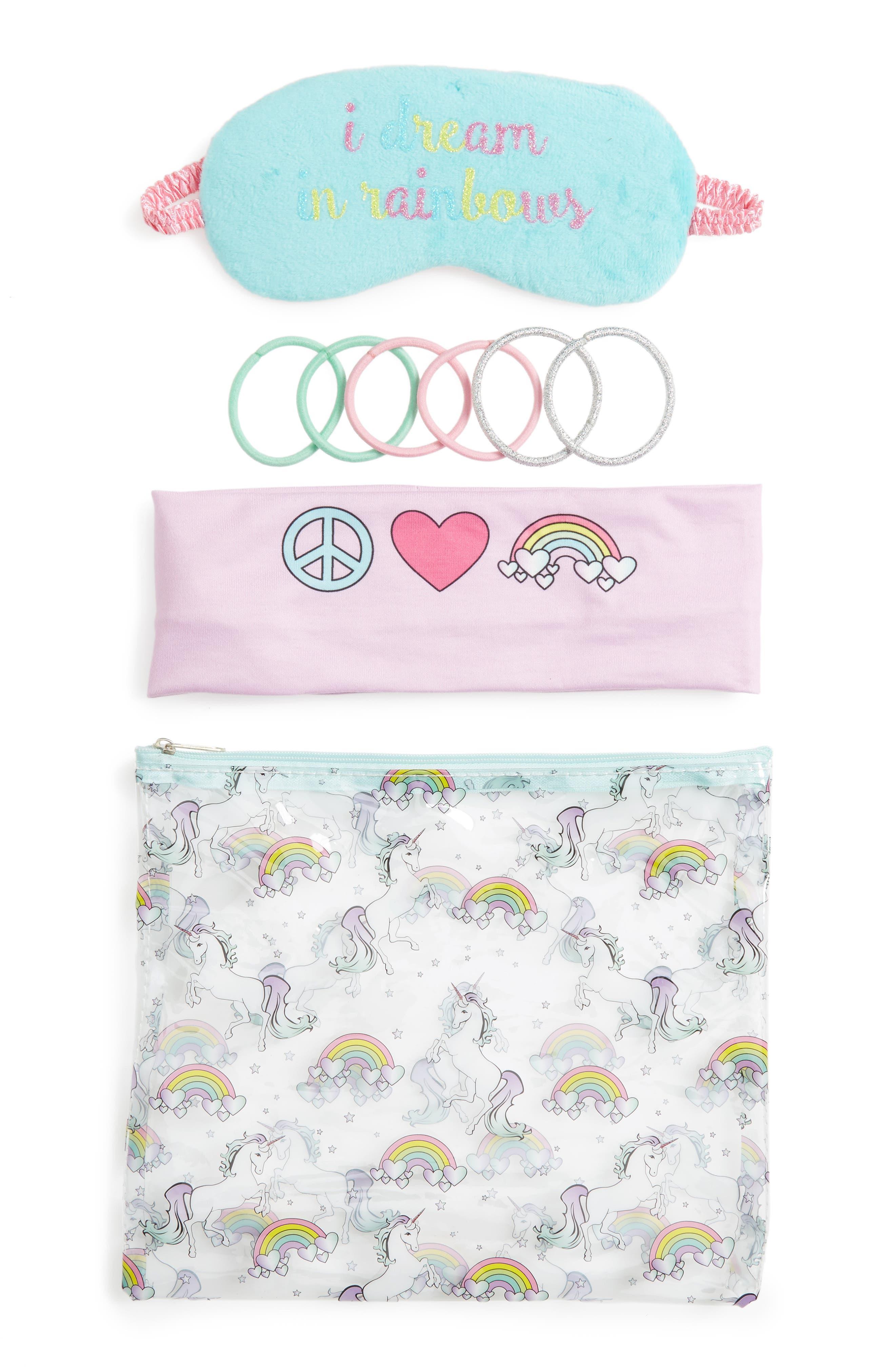 Capelli of New York 4-Piece Unicorns & Rainbows Sleepover Set (Girls)