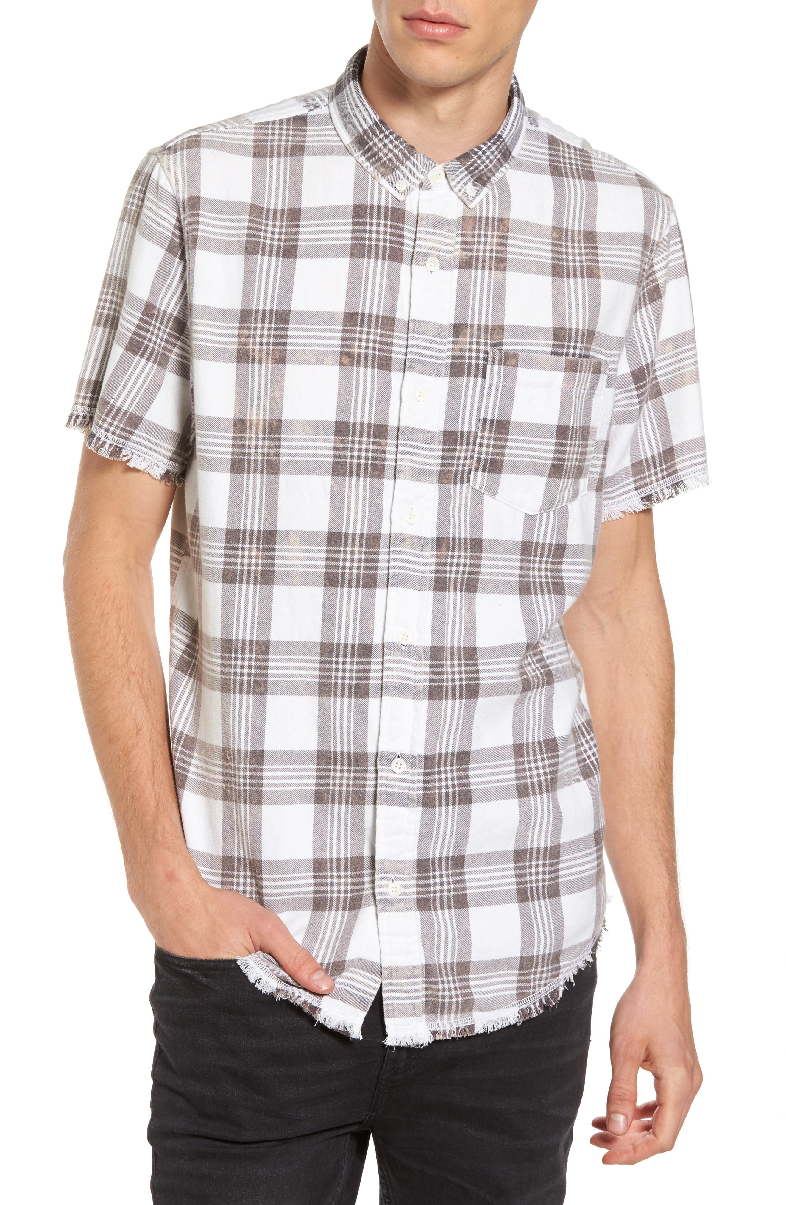 Main Image - The Rail Bleach Plaid Shirt