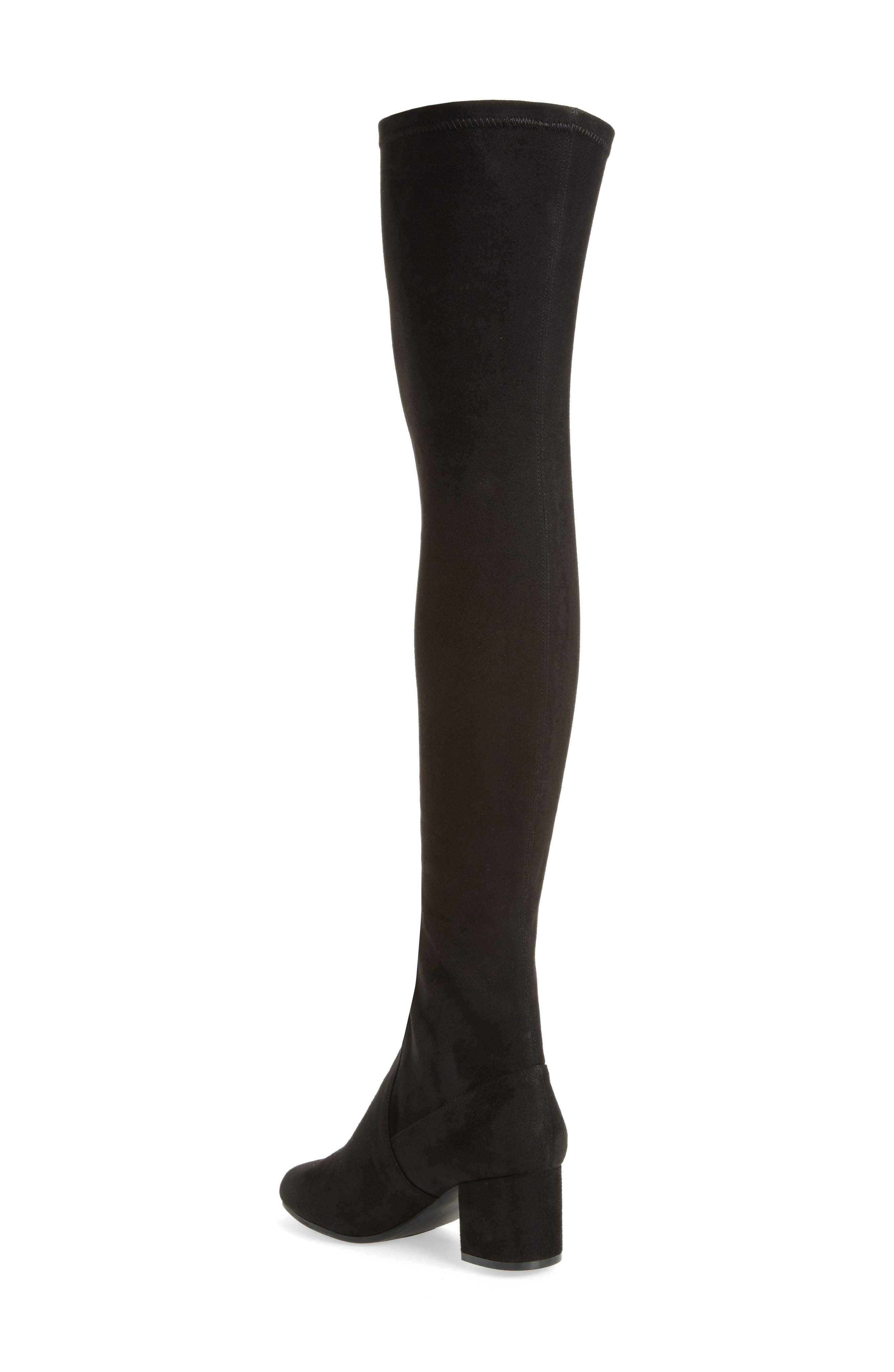 Isaac Over the Knee Boot,                             Alternate thumbnail 2, color,                             Black Suede