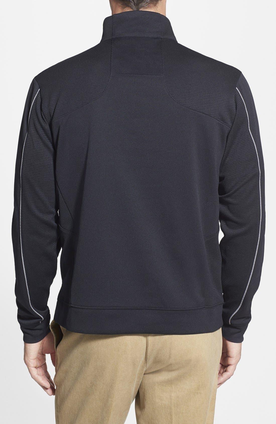 Alternate Image 2  - Cutter & Buck Pittsburgh Steelers - Edge DryTec Moisture Wicking Half Zip Pullover
