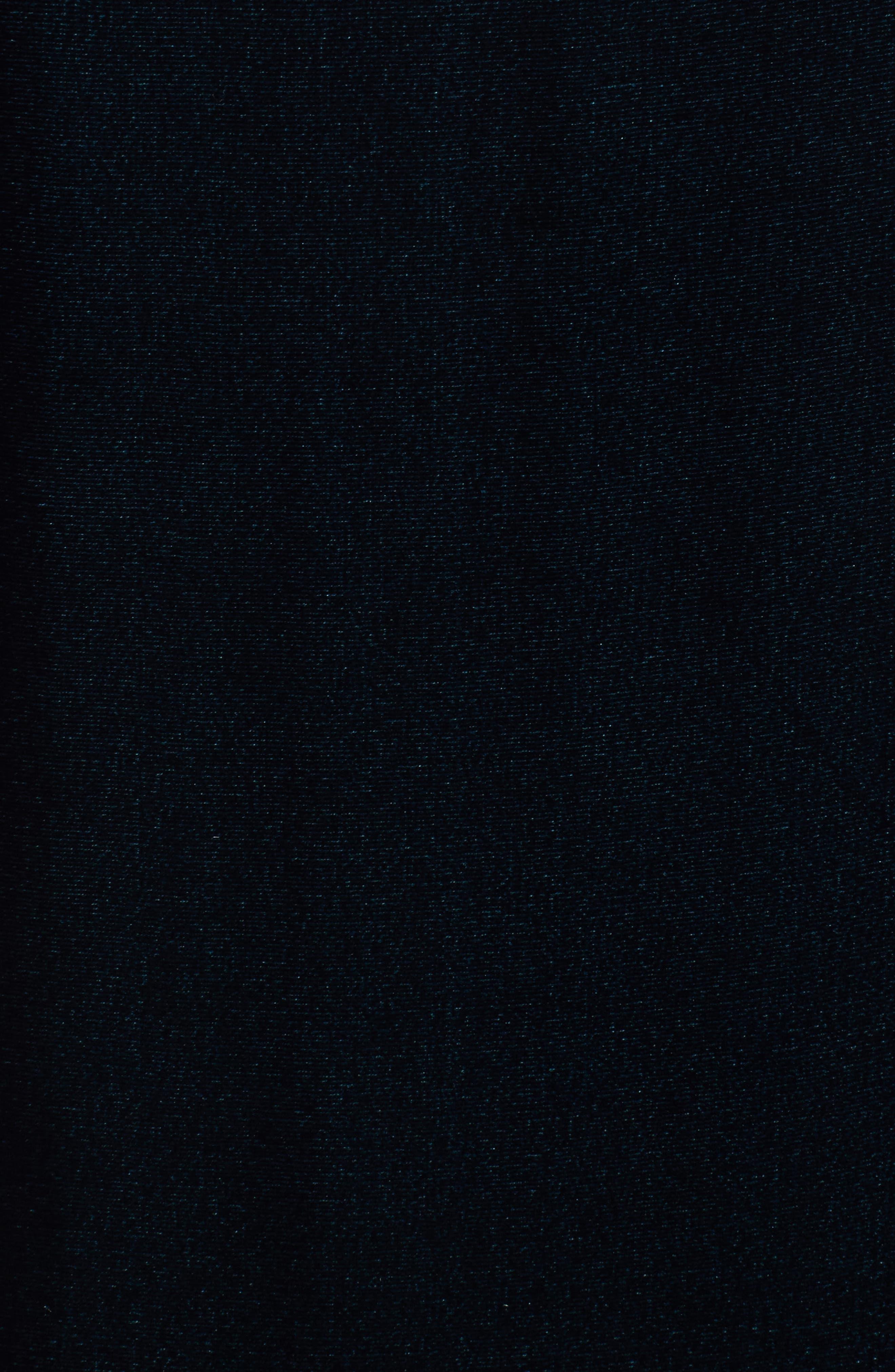 Velvet Shift Dress,                             Alternate thumbnail 5, color,                             Blue Spruce