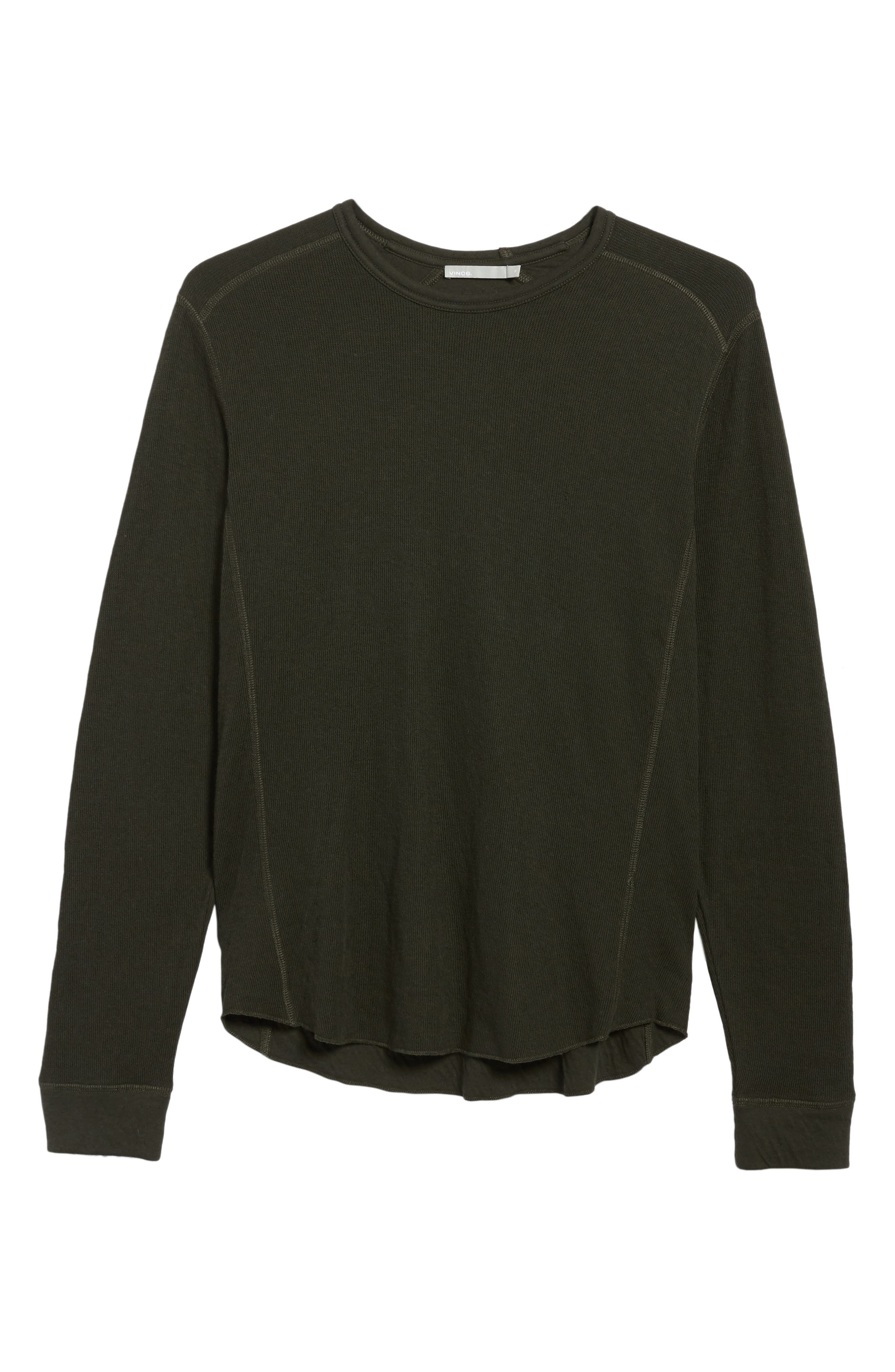 Alternate Image 6  - Vince Double Knit Long Sleeve T-Shirt