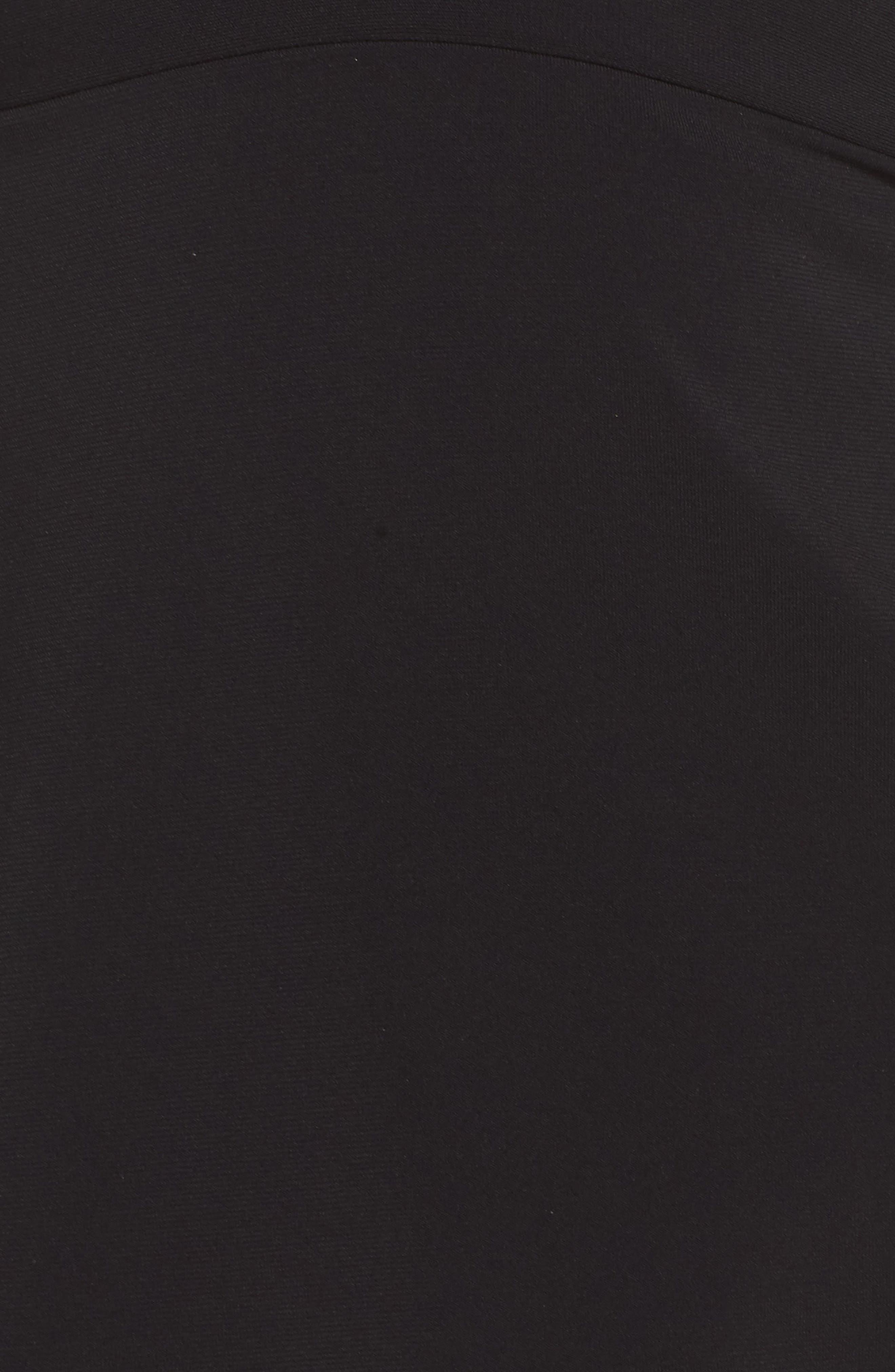 Lina Ruffle Tankini Top,                             Alternate thumbnail 3, color,                             Black