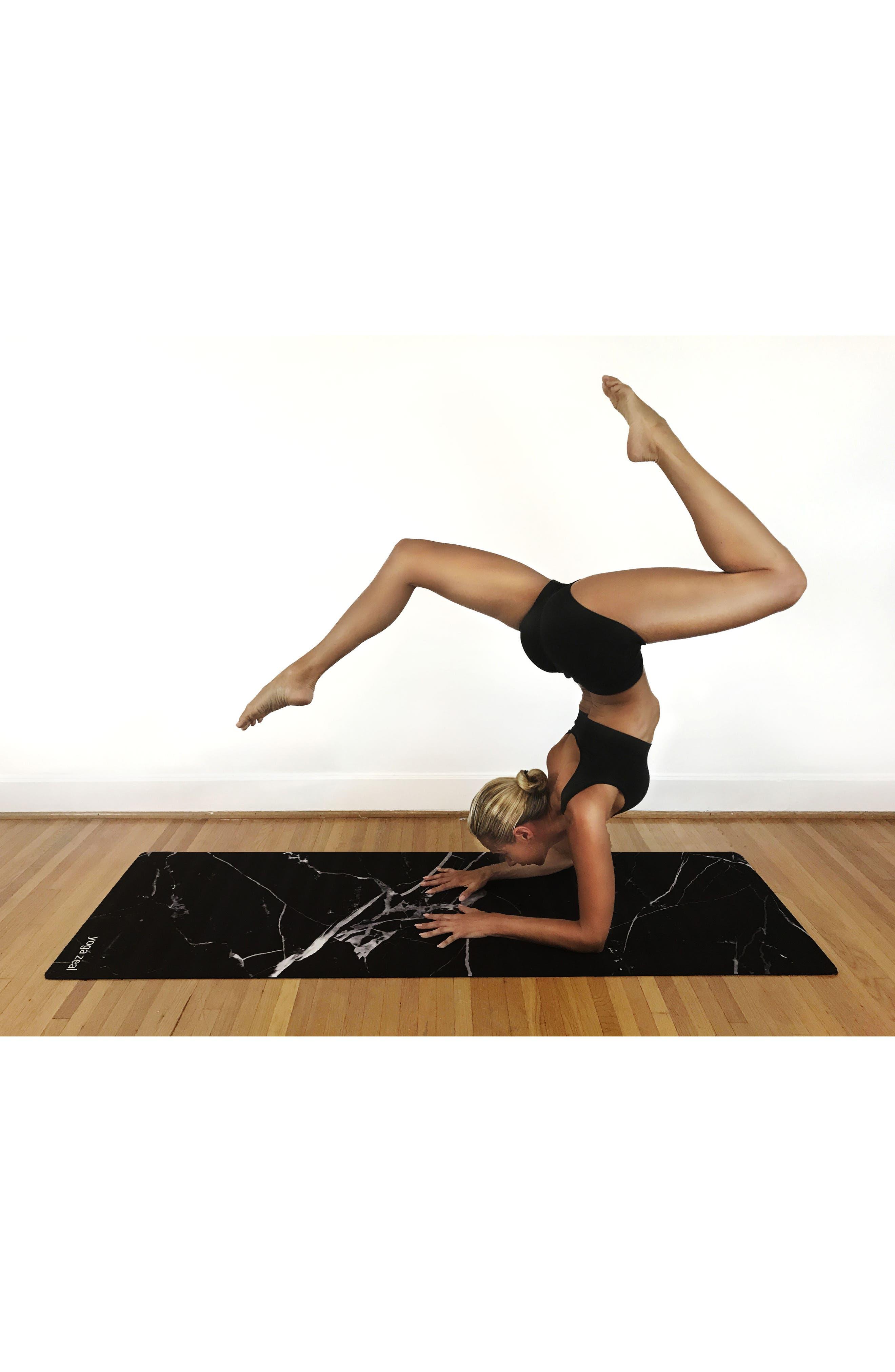 Alternate Image 2  - Yoga Zeal Marble Print Yoga Mat