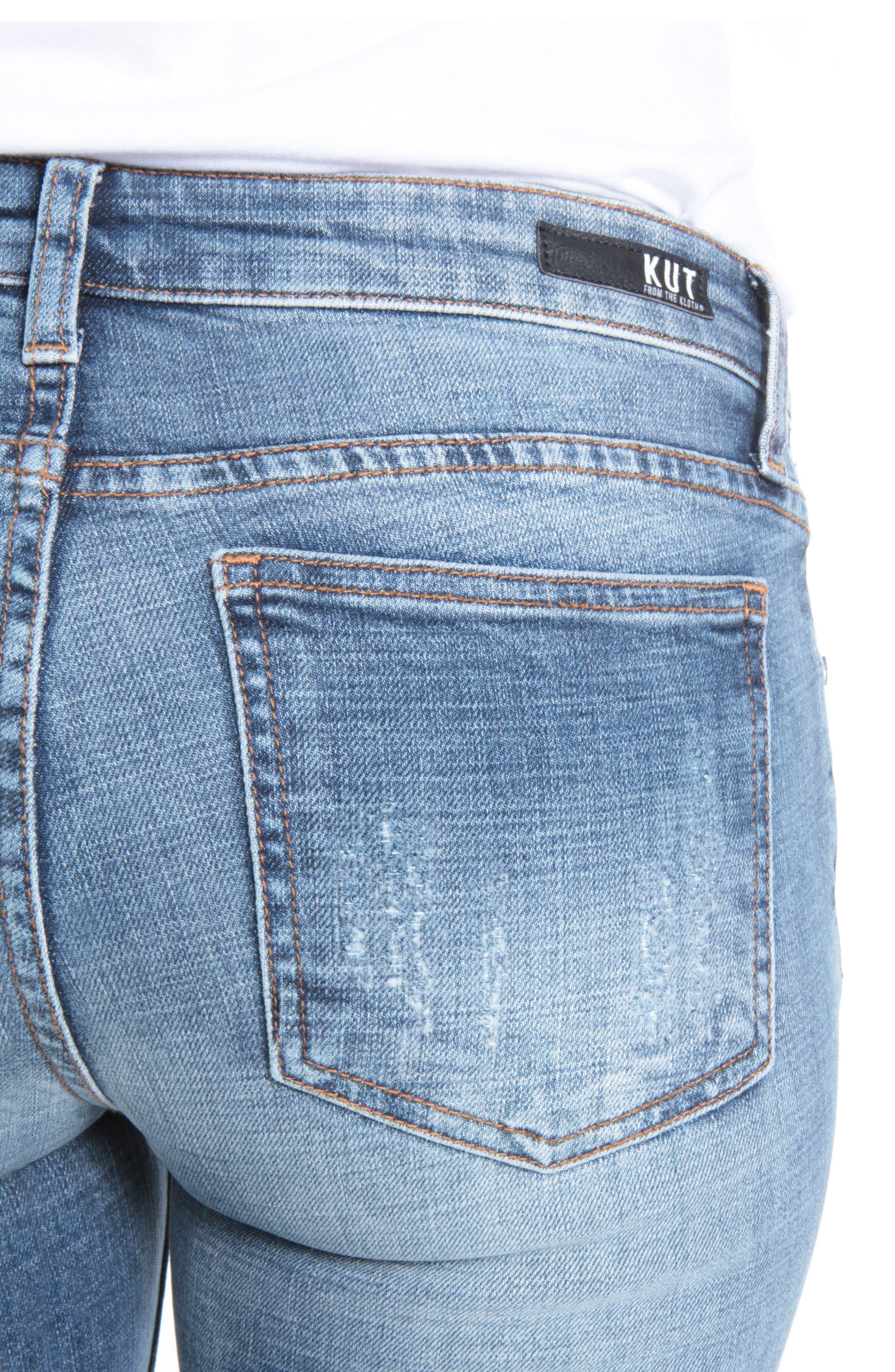Alternate Image 4  - Kut from the Kloth Catherine Boyfriend Jeans (Livened)