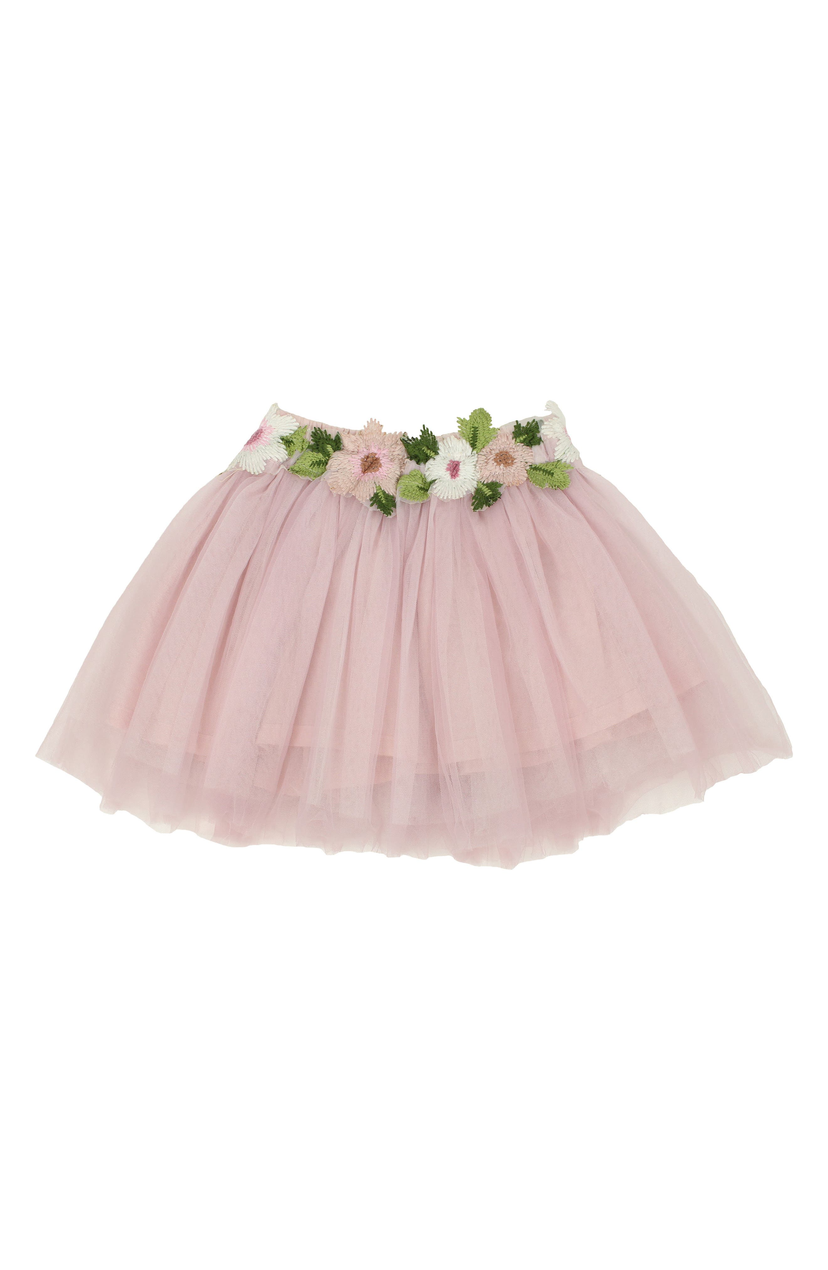 Popatu Floral Embellished Tulle Skirt (Toddler Girls & Little Girls)