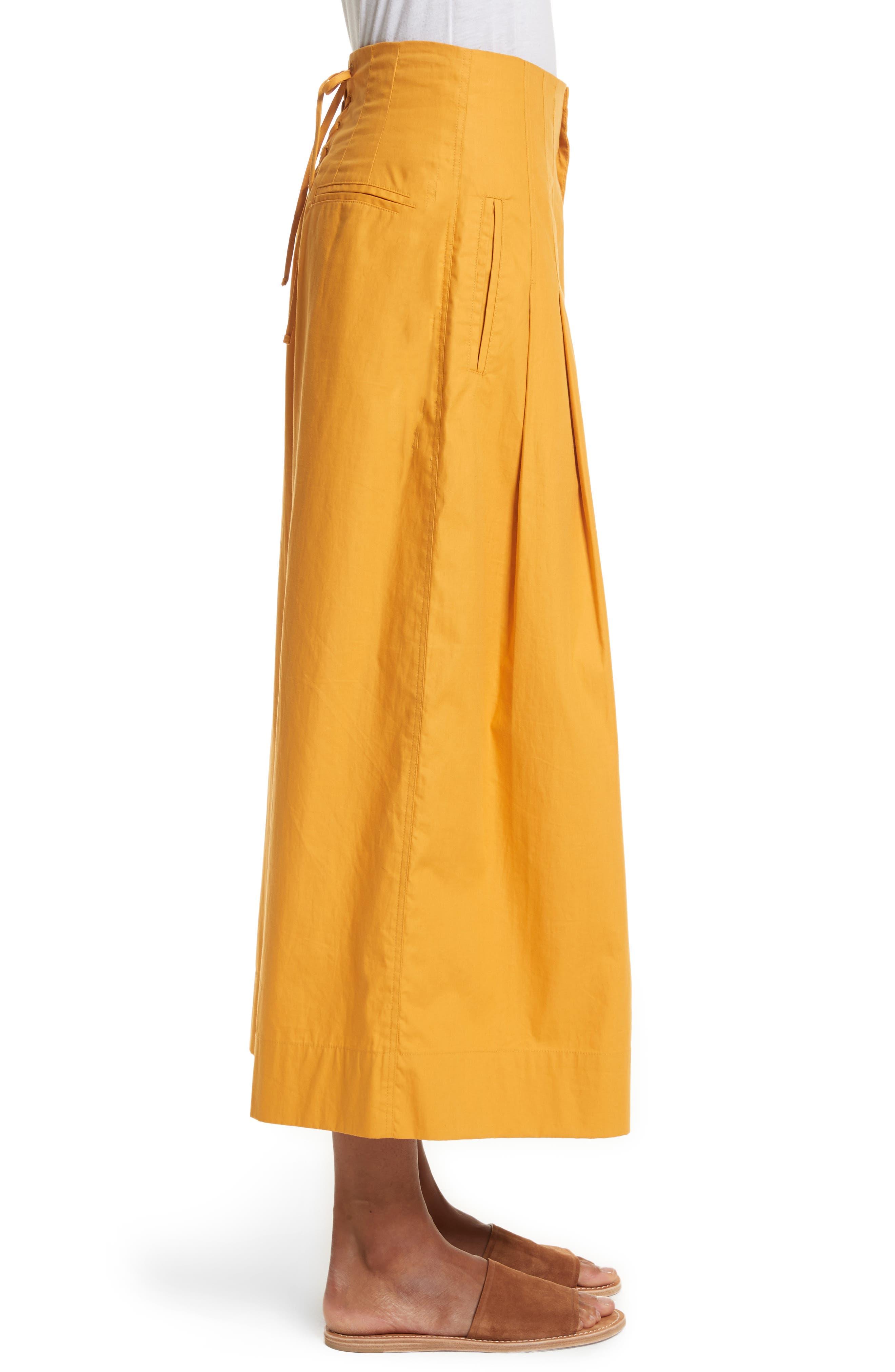 Corset Waist Culottes,                             Alternate thumbnail 5, color,                             Tangerine