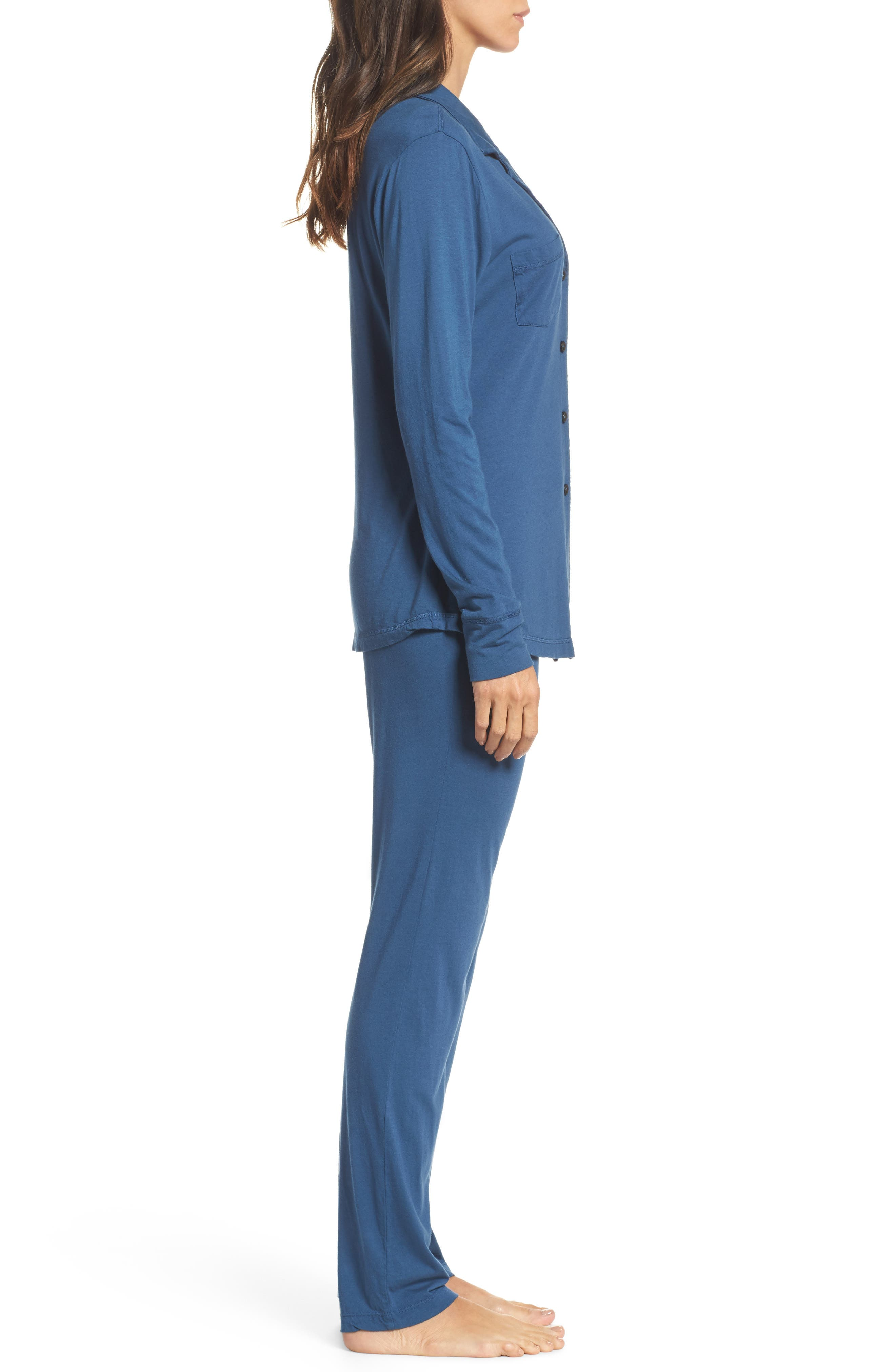 Alternate Image 3  - LOVE+GRACE 'Cassie' Cotton & Modal Pajamas