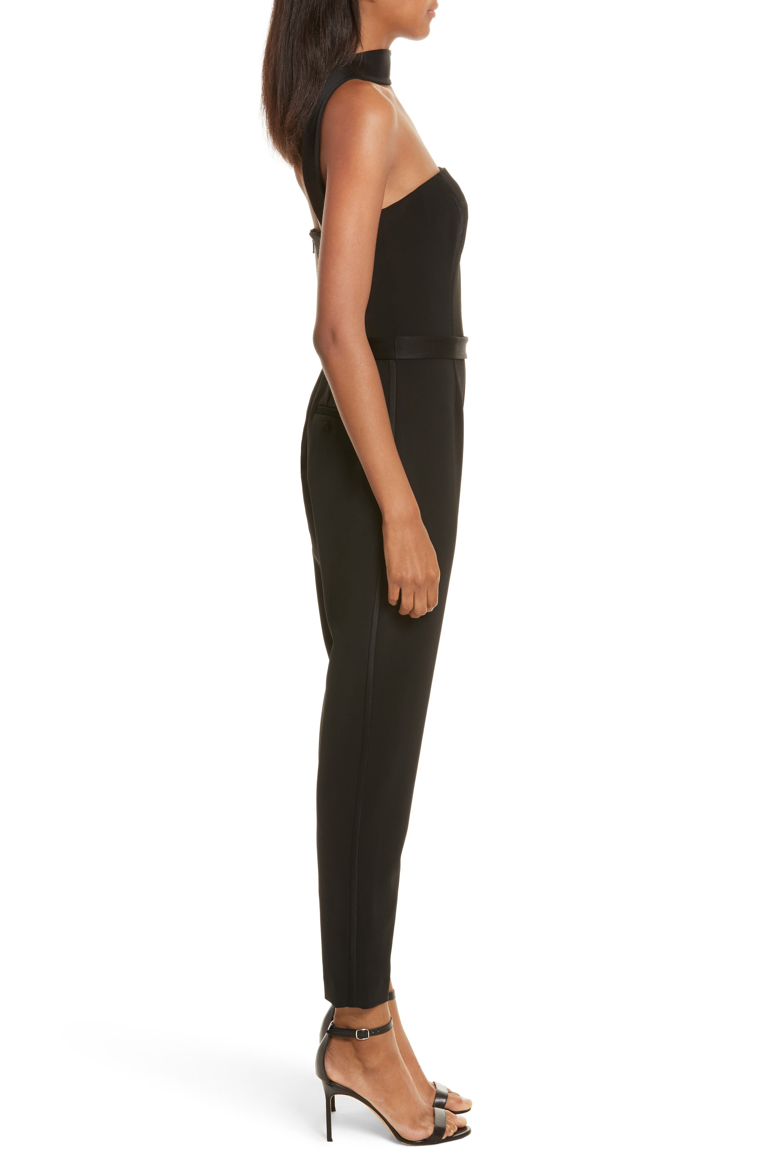 Diane Kruger x GREY Jason Wu Crepe Straight Leg Jumpsuit,                             Alternate thumbnail 3, color,                             Black