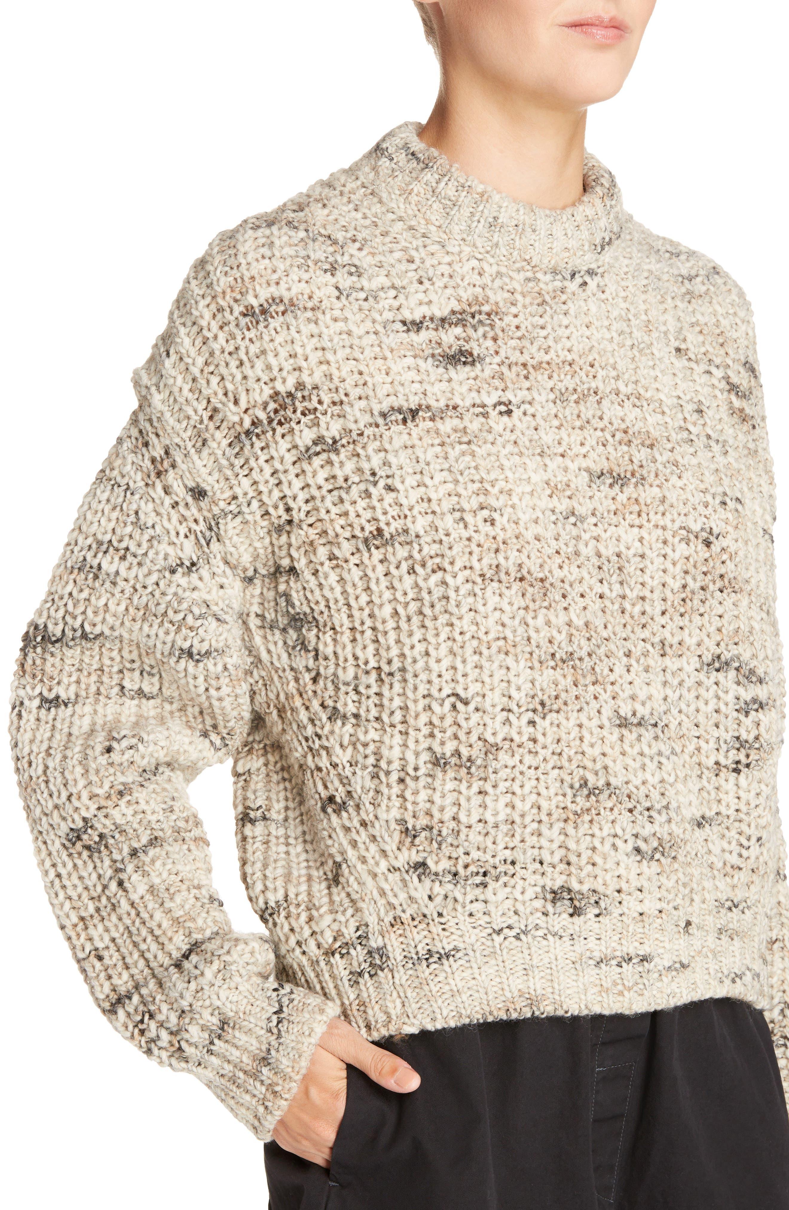 Zora Multi Sweater,                             Alternate thumbnail 4, color,                             White Mix