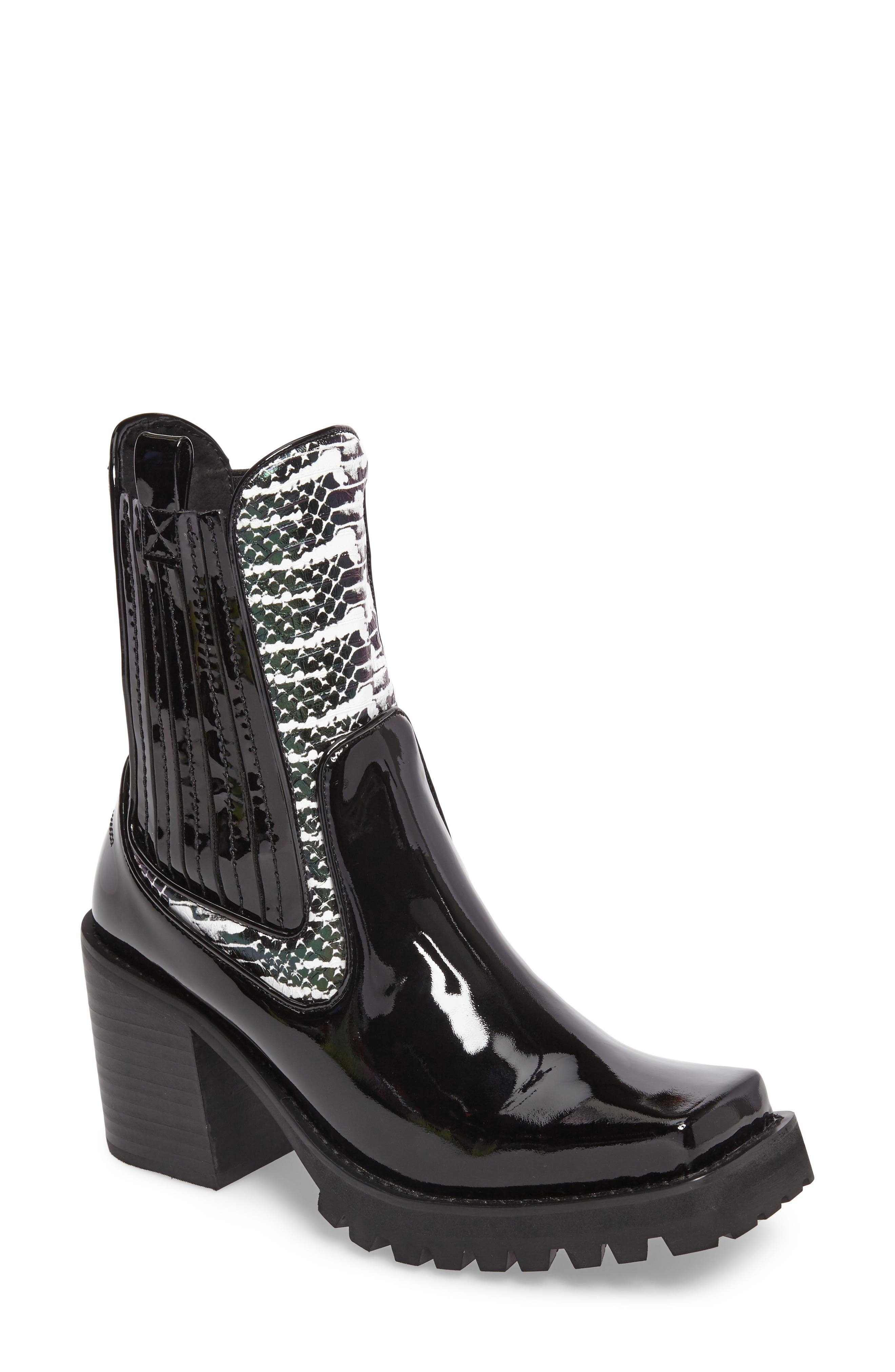 Elkins Boot,                             Main thumbnail 1, color,                             Black Snake