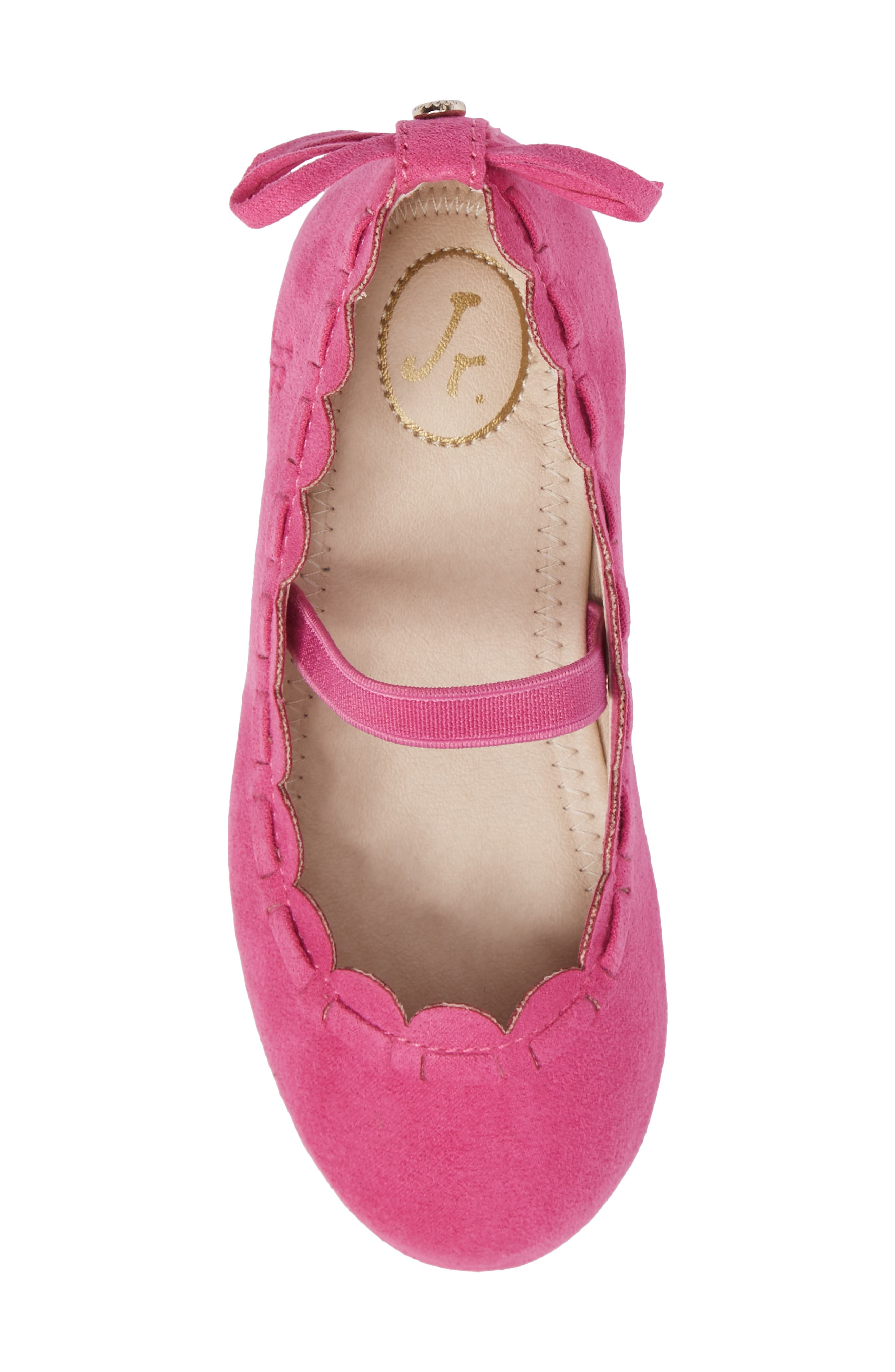 Alternate Image 5  - Jack Rogers Little Miss Lucie Scalloped Mary Jane Flat (Walker & Toddler)